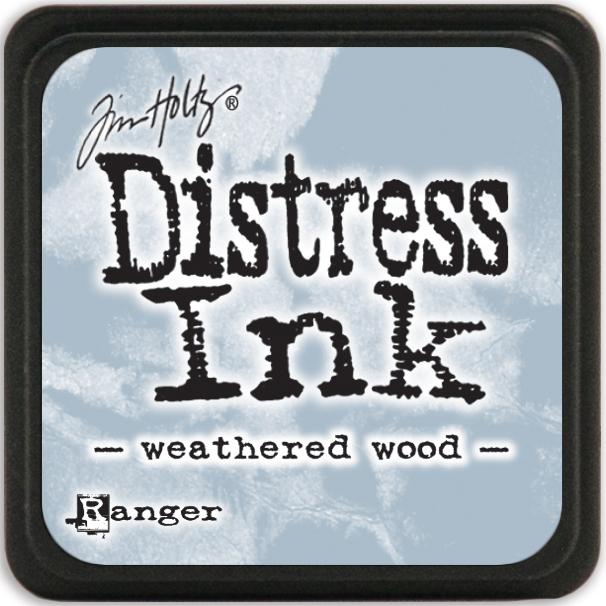 Tim Holtz Distress Mini Ink Pad-Weathered Wood