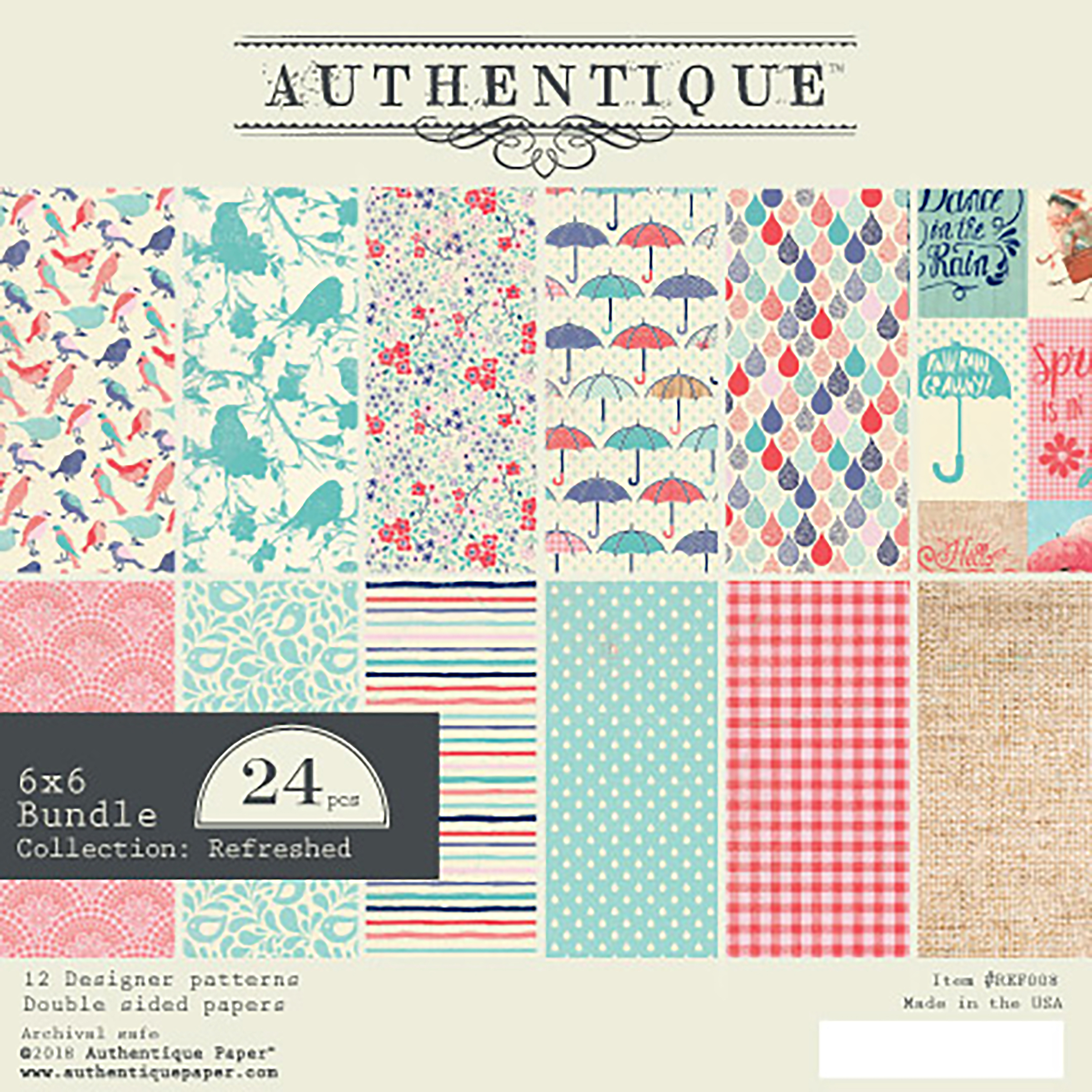Authentique - Refreshed Paper Pad 6x6
