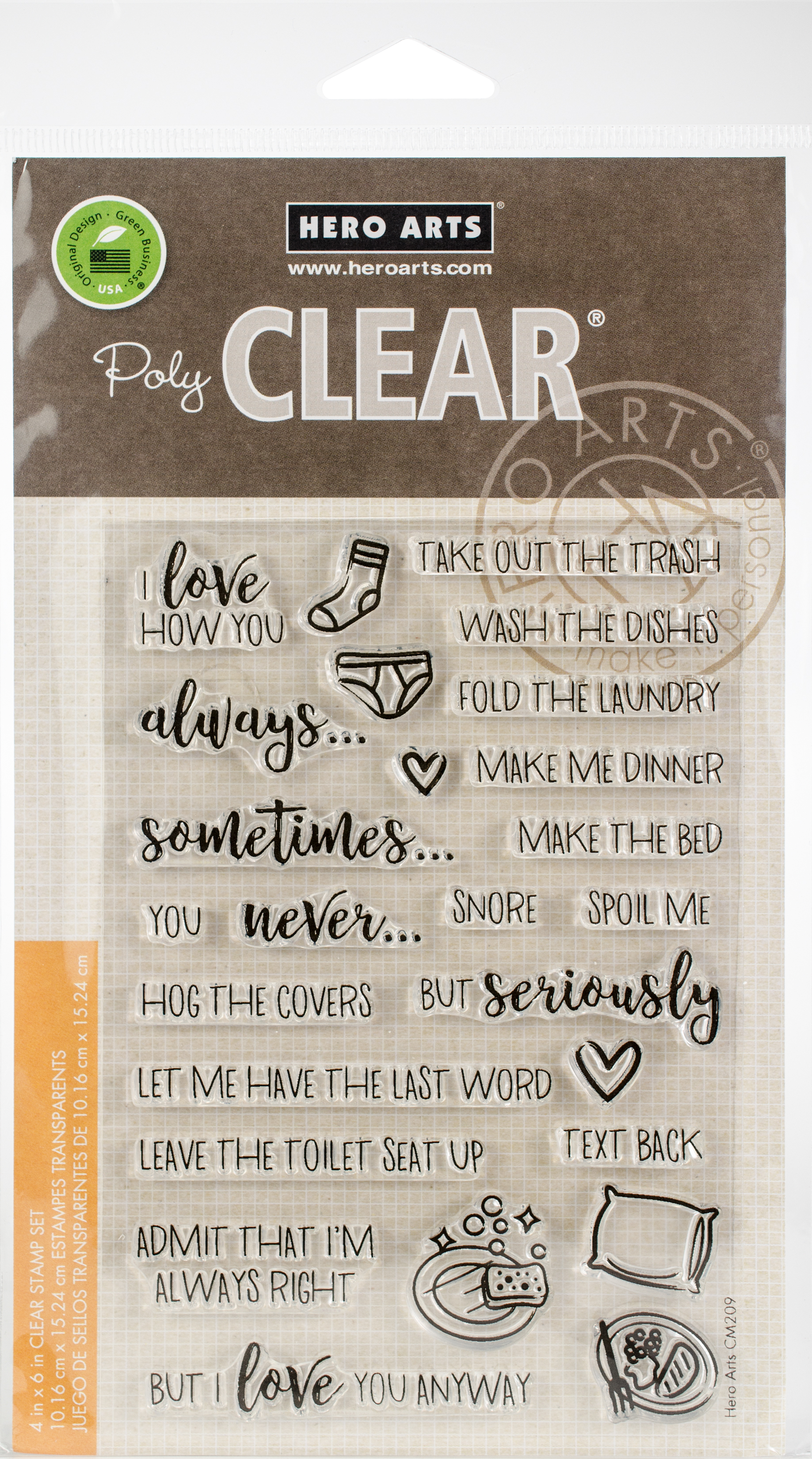 Hero Arts Clear Stamps 4X6-I Love How You...