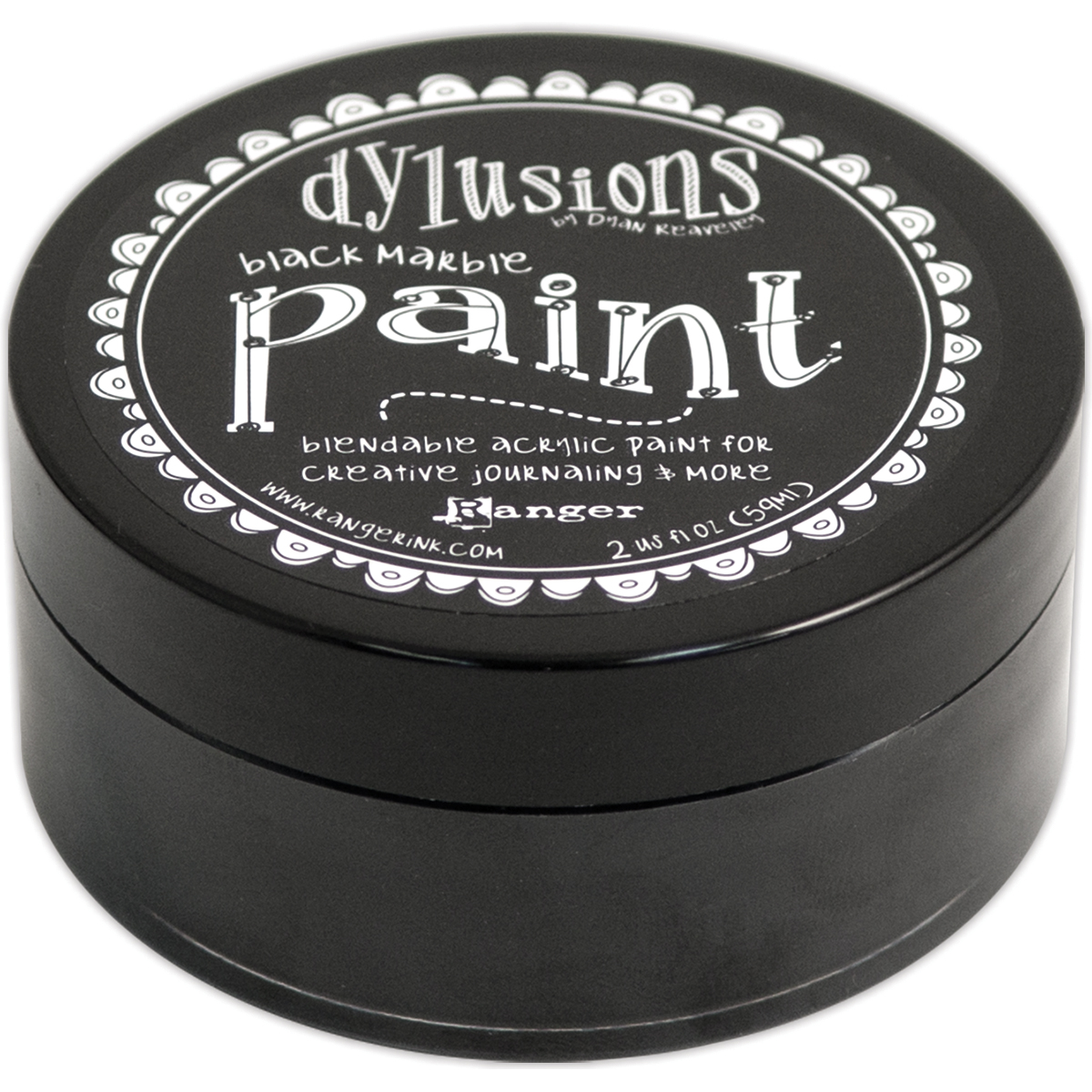 Dylusions Blendable Acrylic Paint 2oz-Black Marble