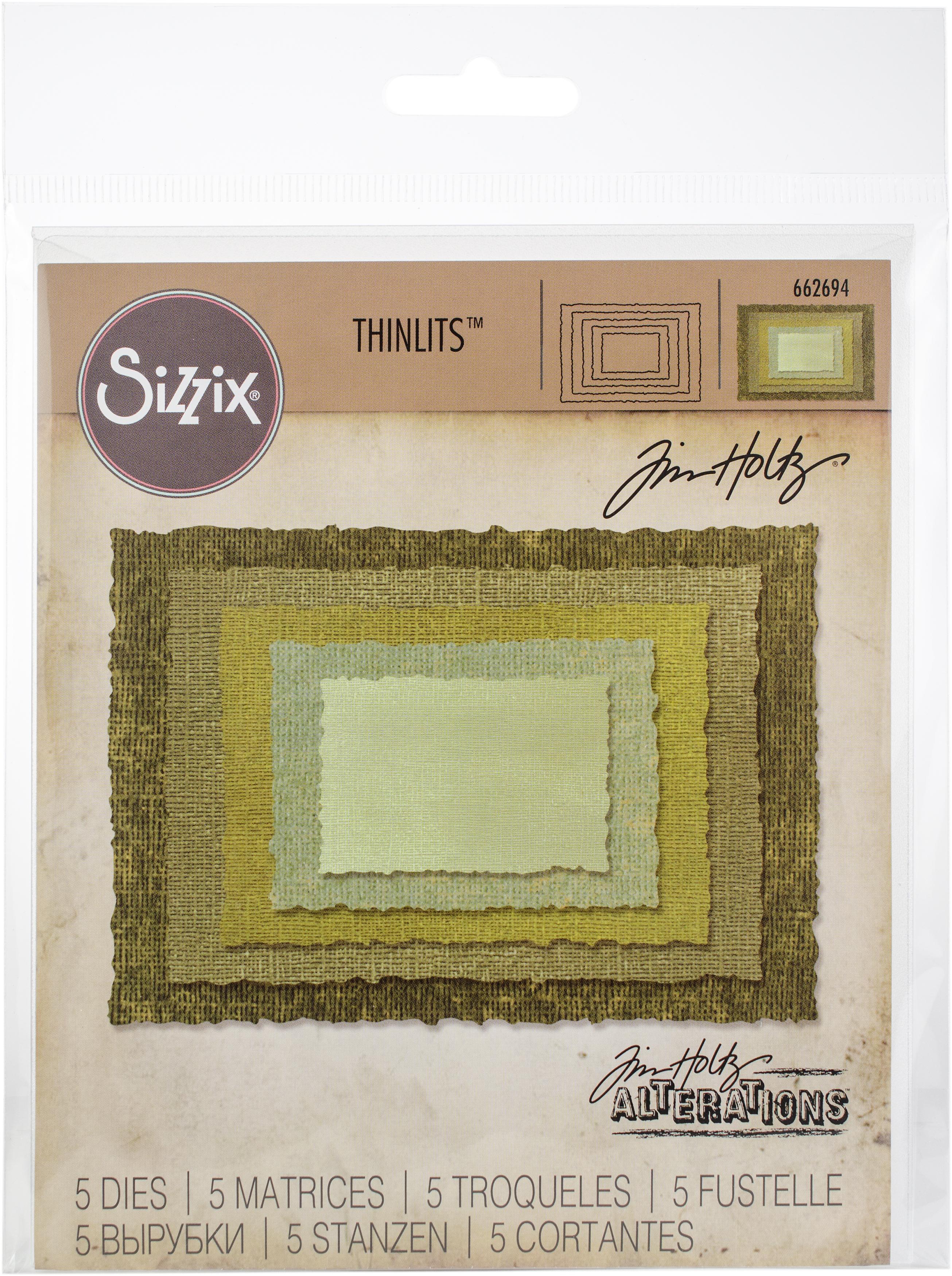 Sizzix Thinlits Dies By Tim Holtz -Stacked Deckle