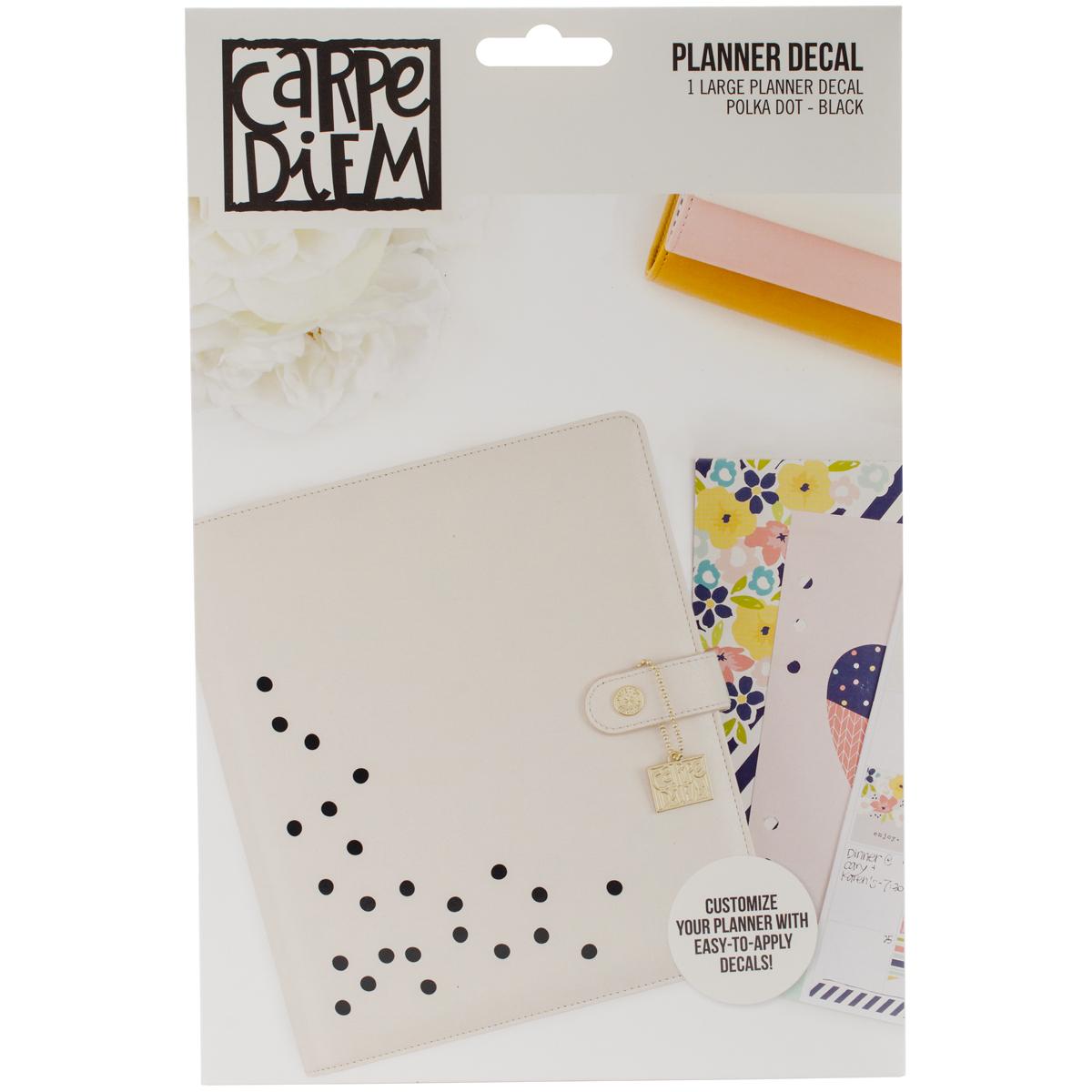 Carpe Diem Large Planner Decals-Polkadot
