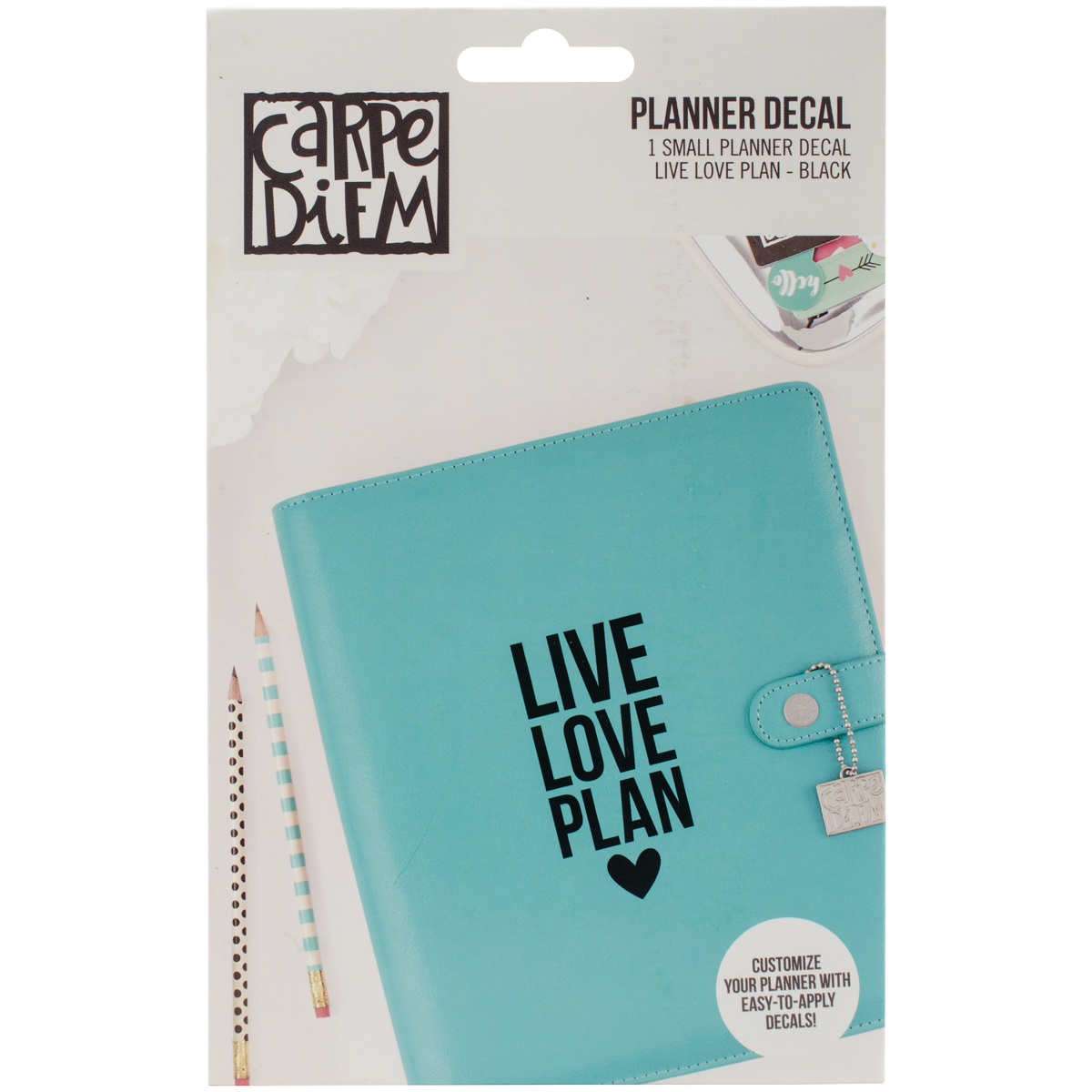Carpe Diem live love plan decal