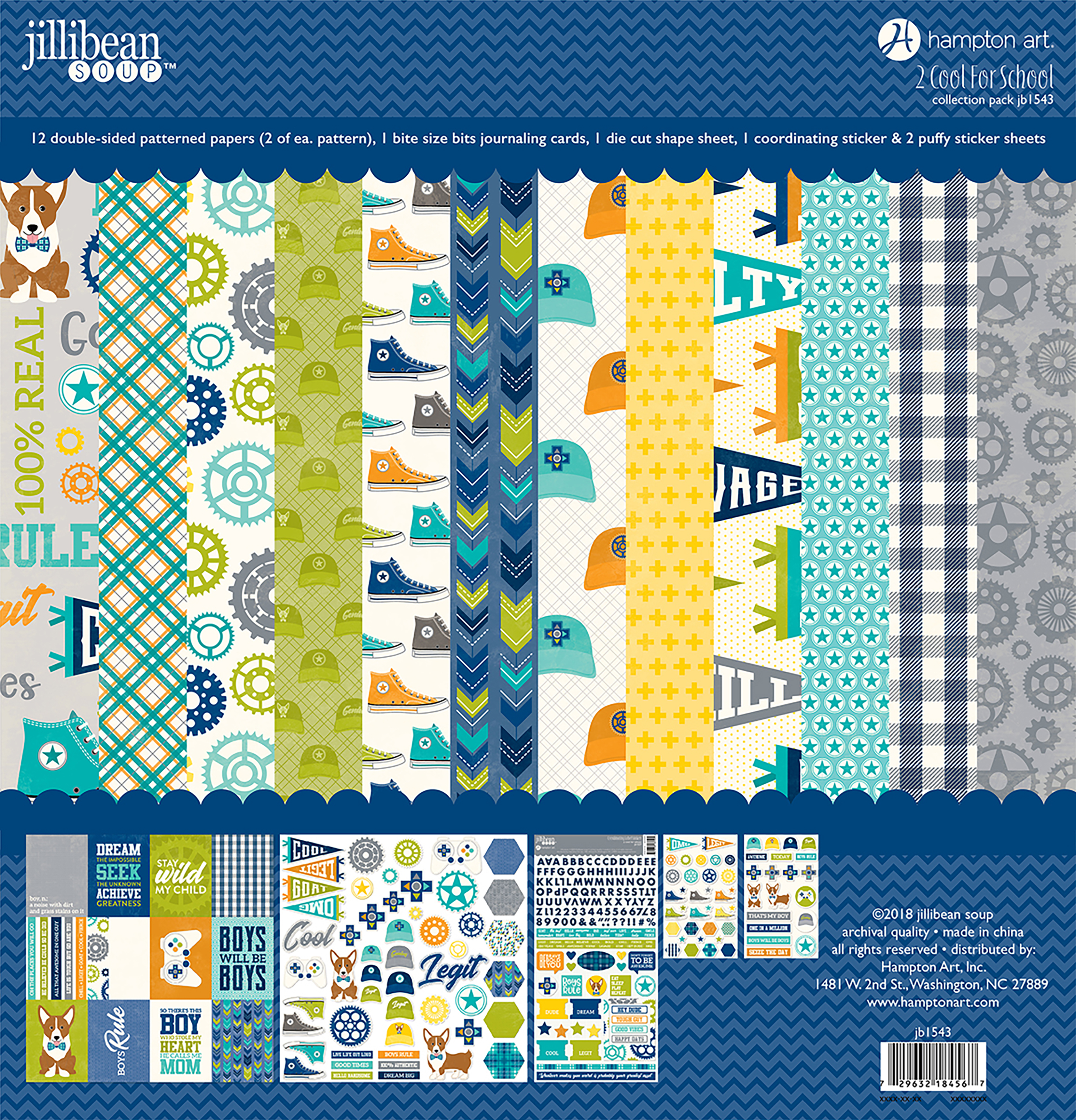 Jillibean Soup Collection Pack 12X12-2 Cool For School