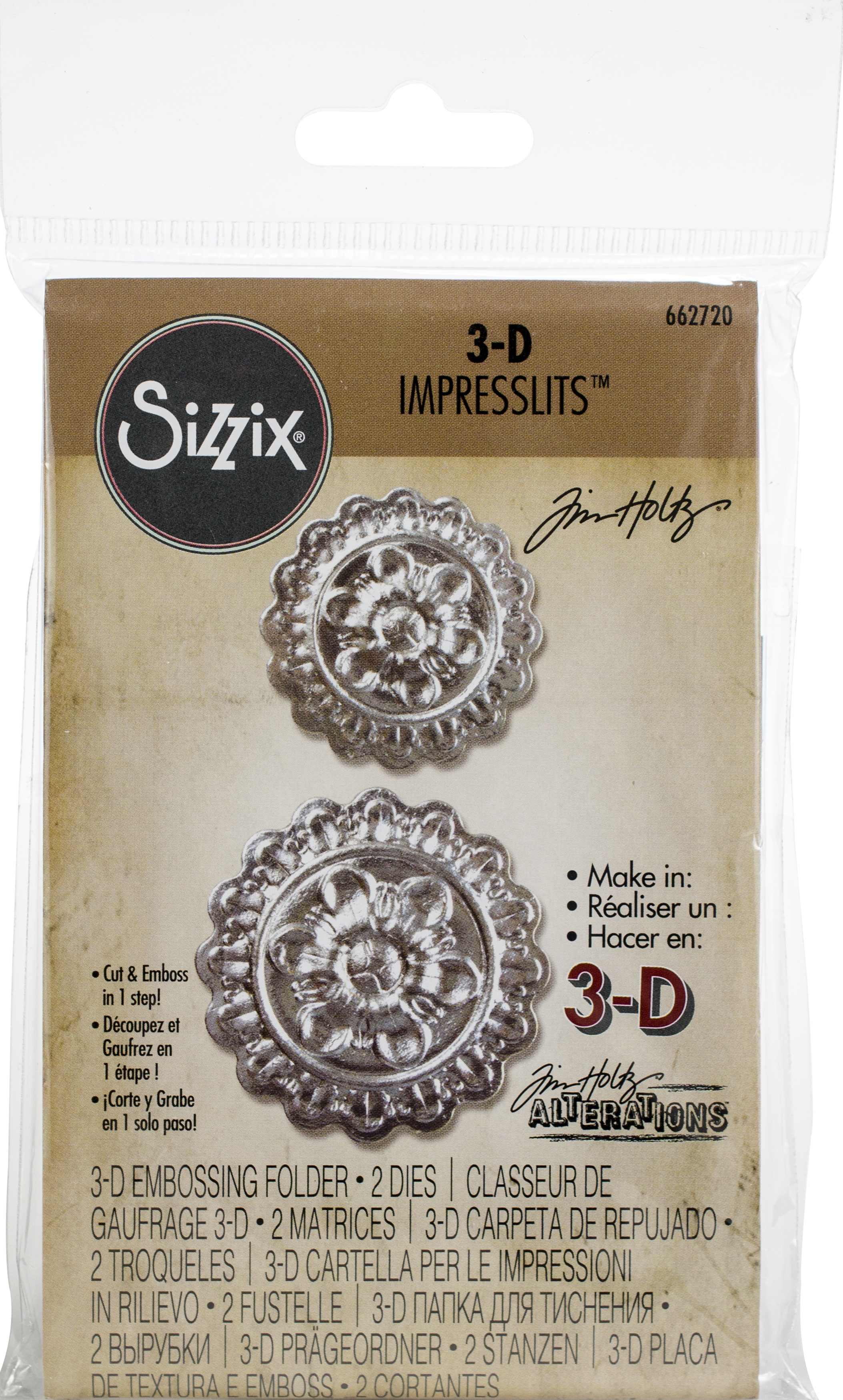 Sizzix medallion cut & embossing