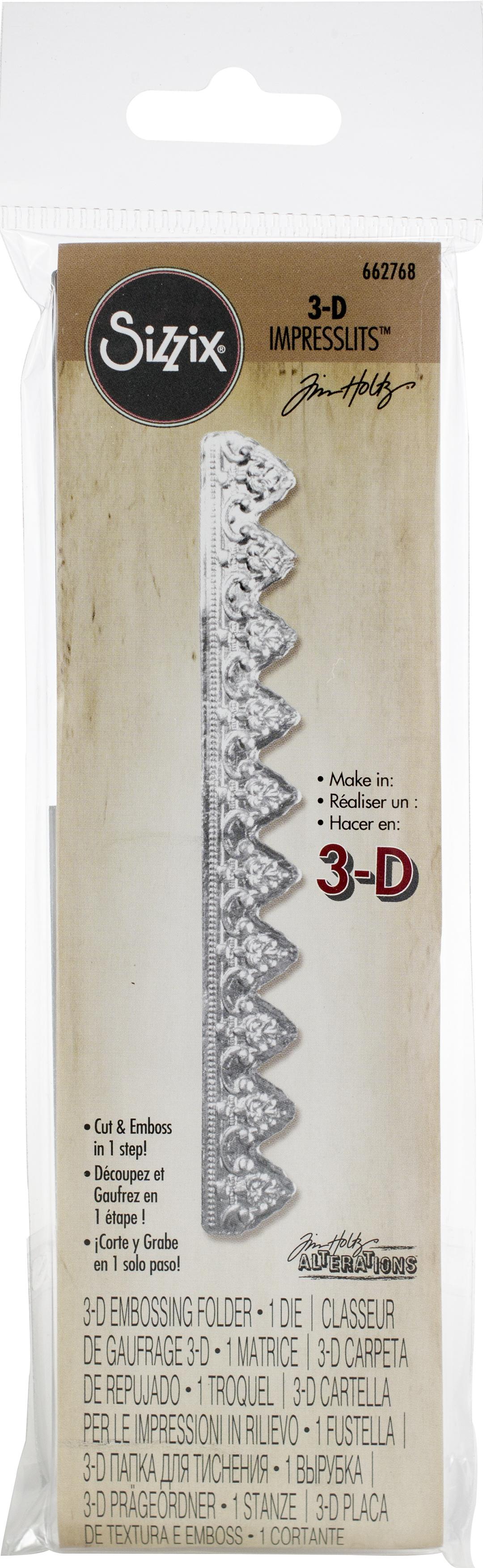 Sizzix 3D Impresslits Embossing Folder By Tim Holtz-Mini Provincial