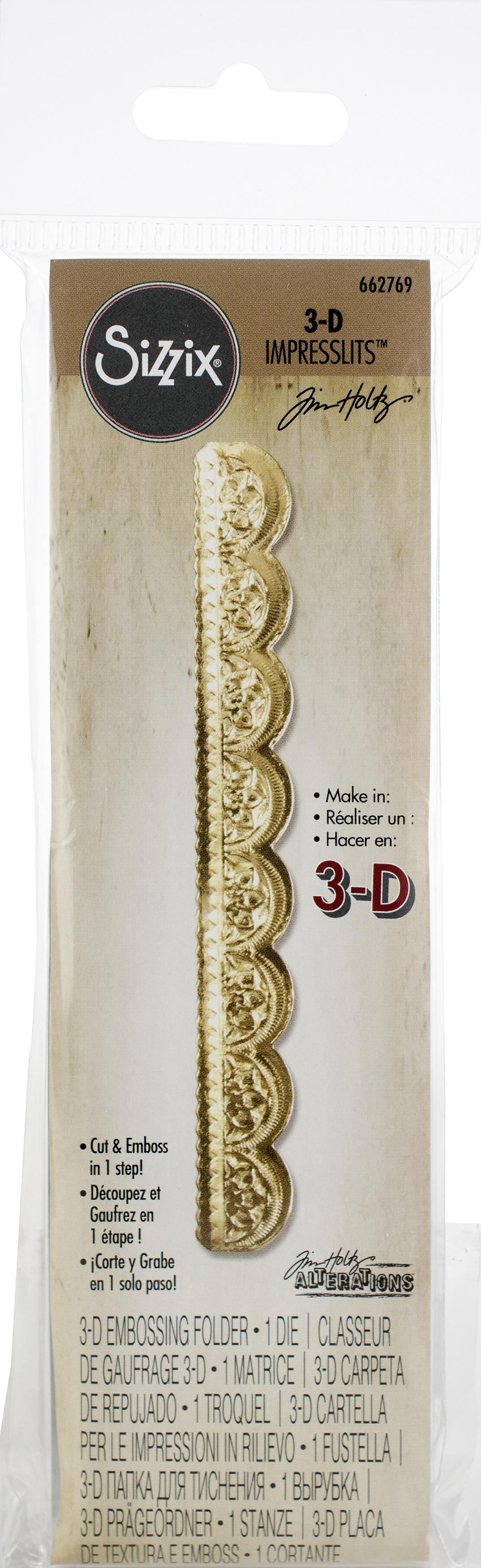 Sizzix 3D Impresslits Embossing Folder By Tim Holtz-Mini Scallop