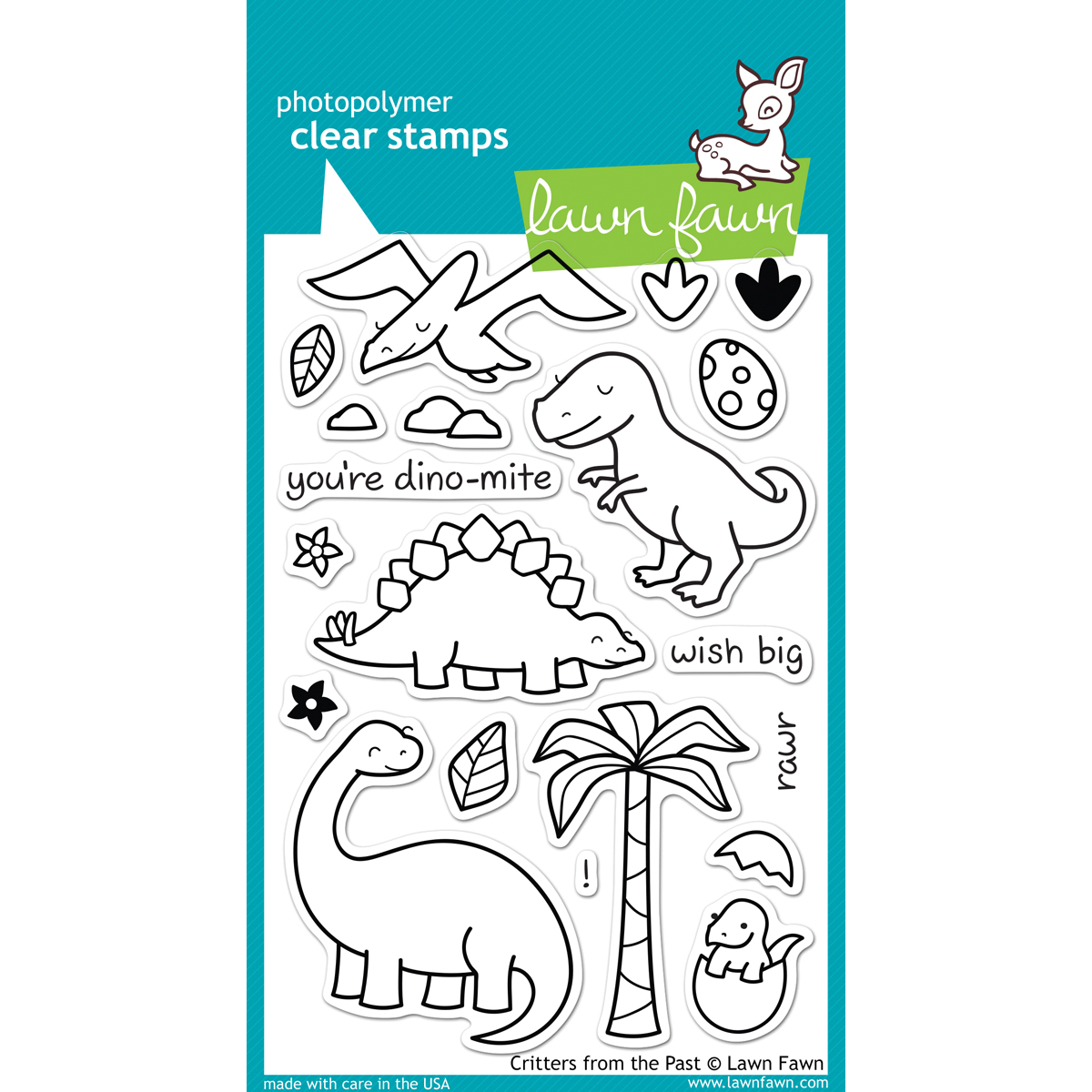 Lawn Fawn Critters from the Past STAMP