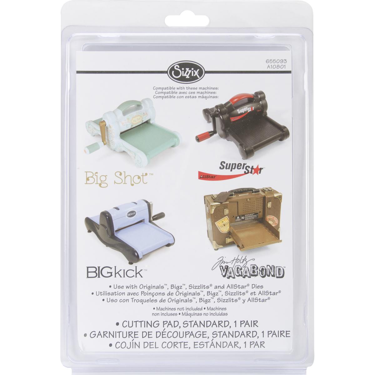 Sizzix BIGkick/Big Shot/Vagabond Cutting Pads 1 Pair-Standard 8.75X6.125X.125