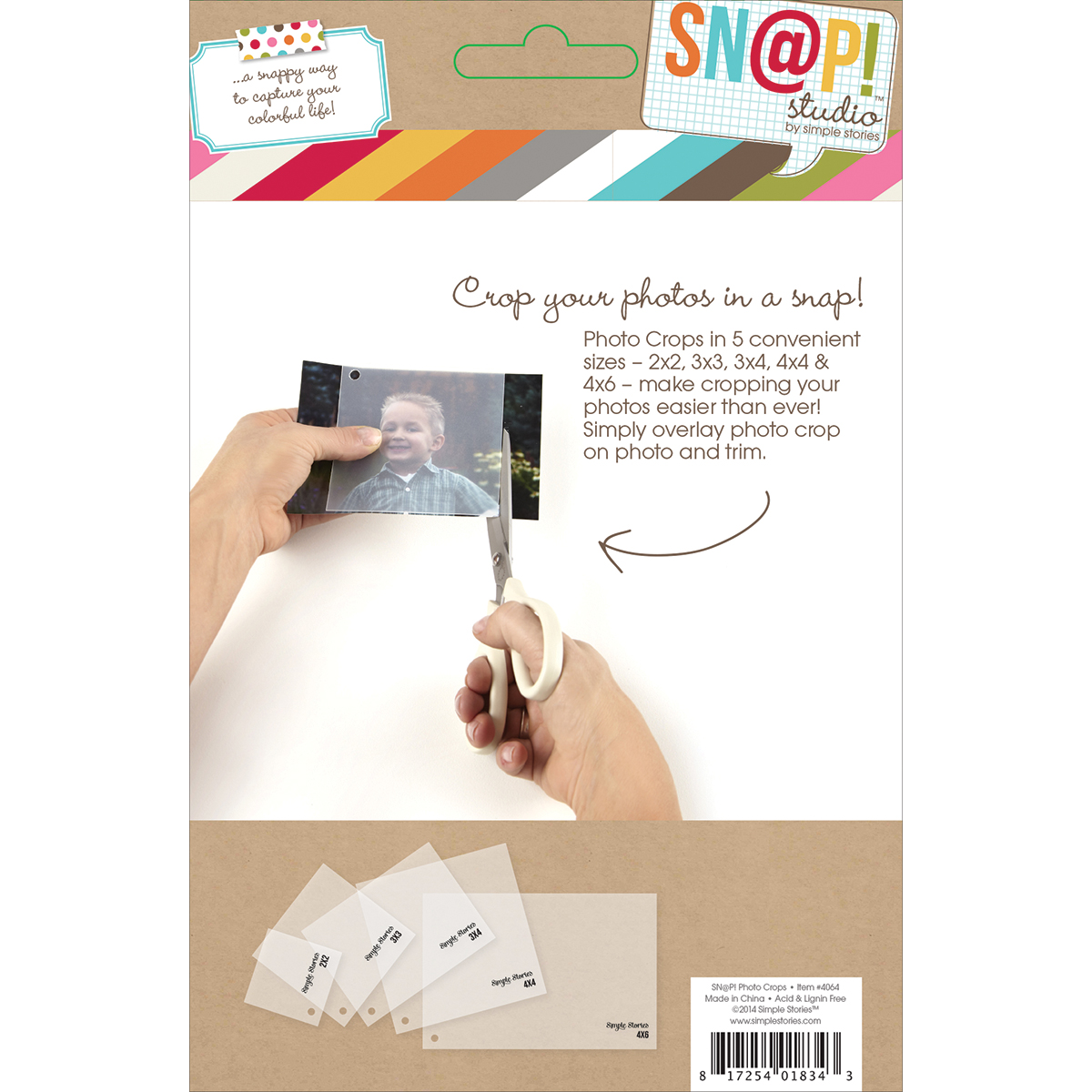 Simple Stories Sn@p! Photo Crops 5/Pkg-Square & Rectangle