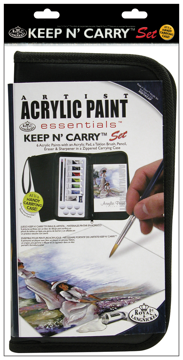 Royal Brush-ACRYLIC   -KEEP N'CARRY ART SET