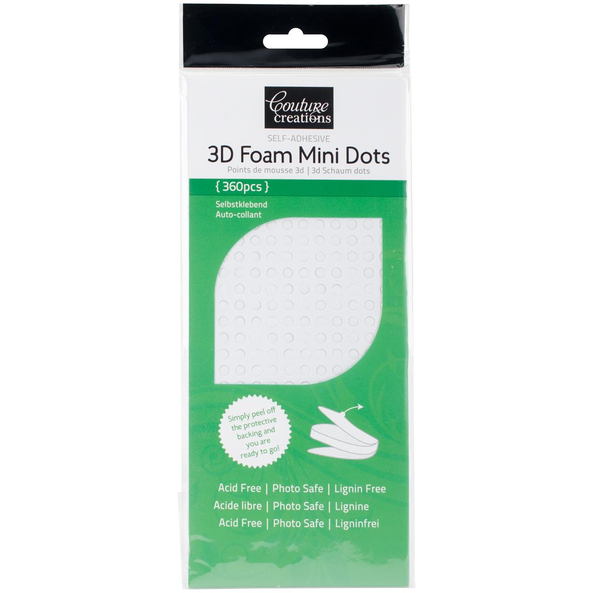 Adhesive - 3D Foam - White - Mini Dots 360/Pkg