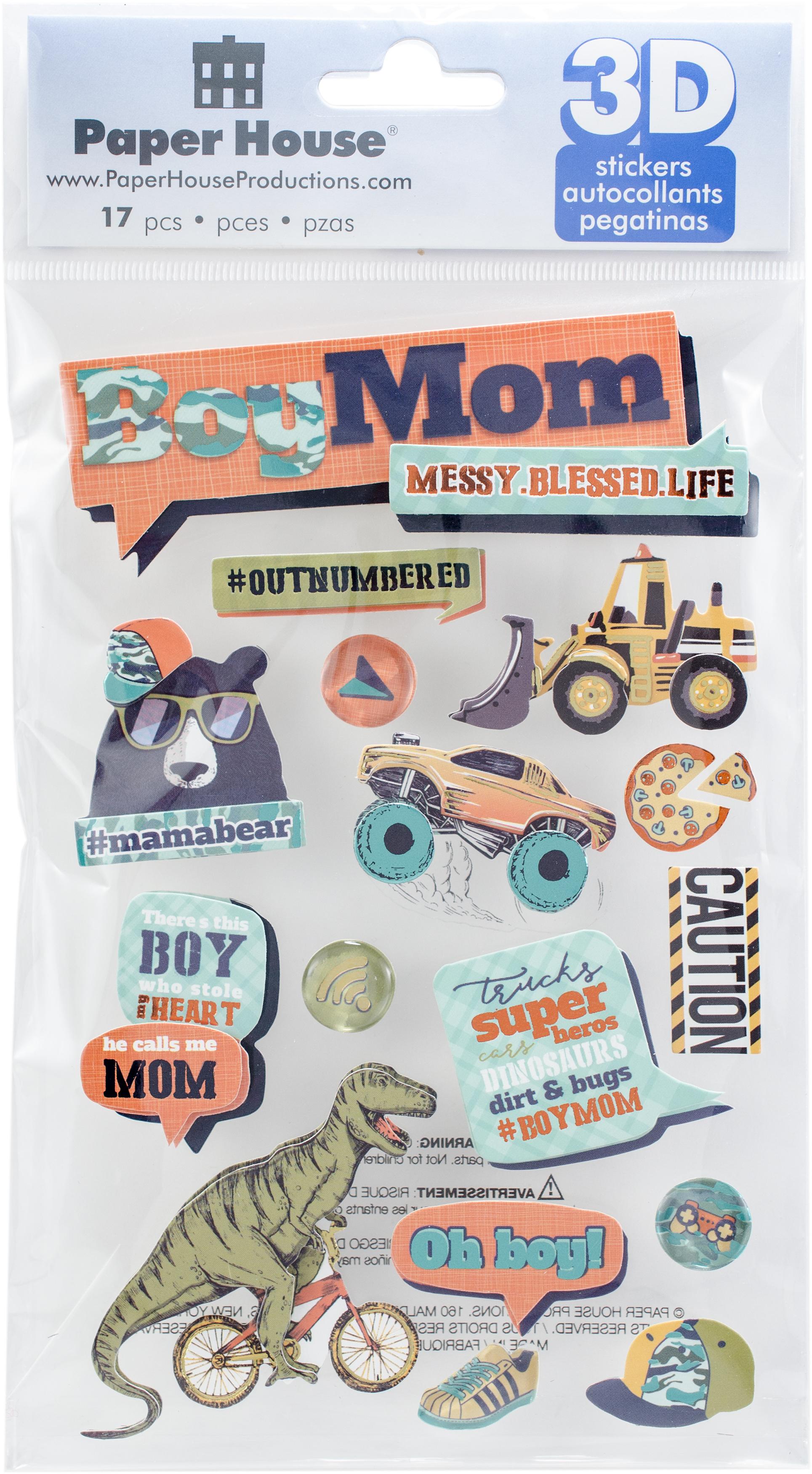 3D STICKERS BOY MOM
