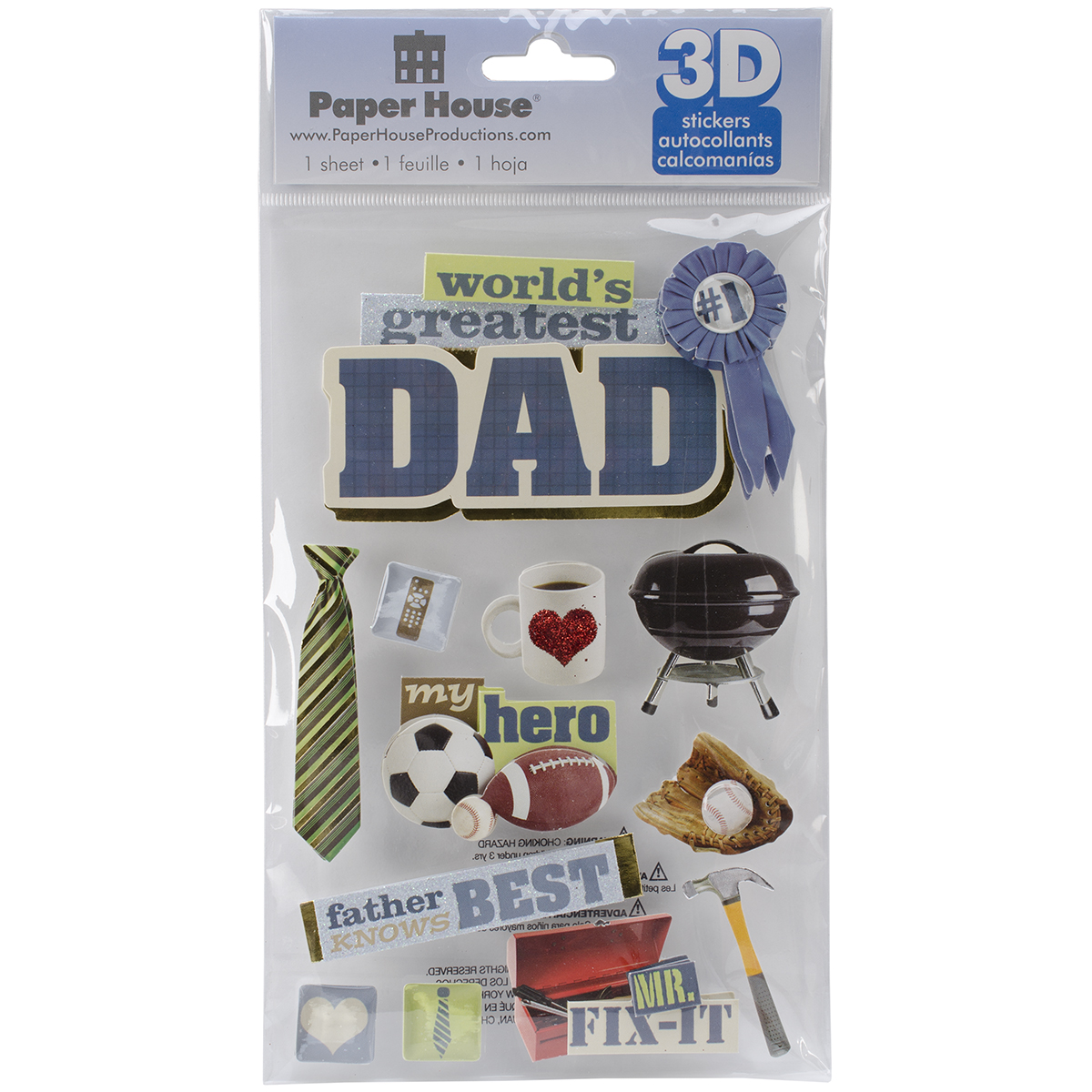 DAD       -3D STICKERS