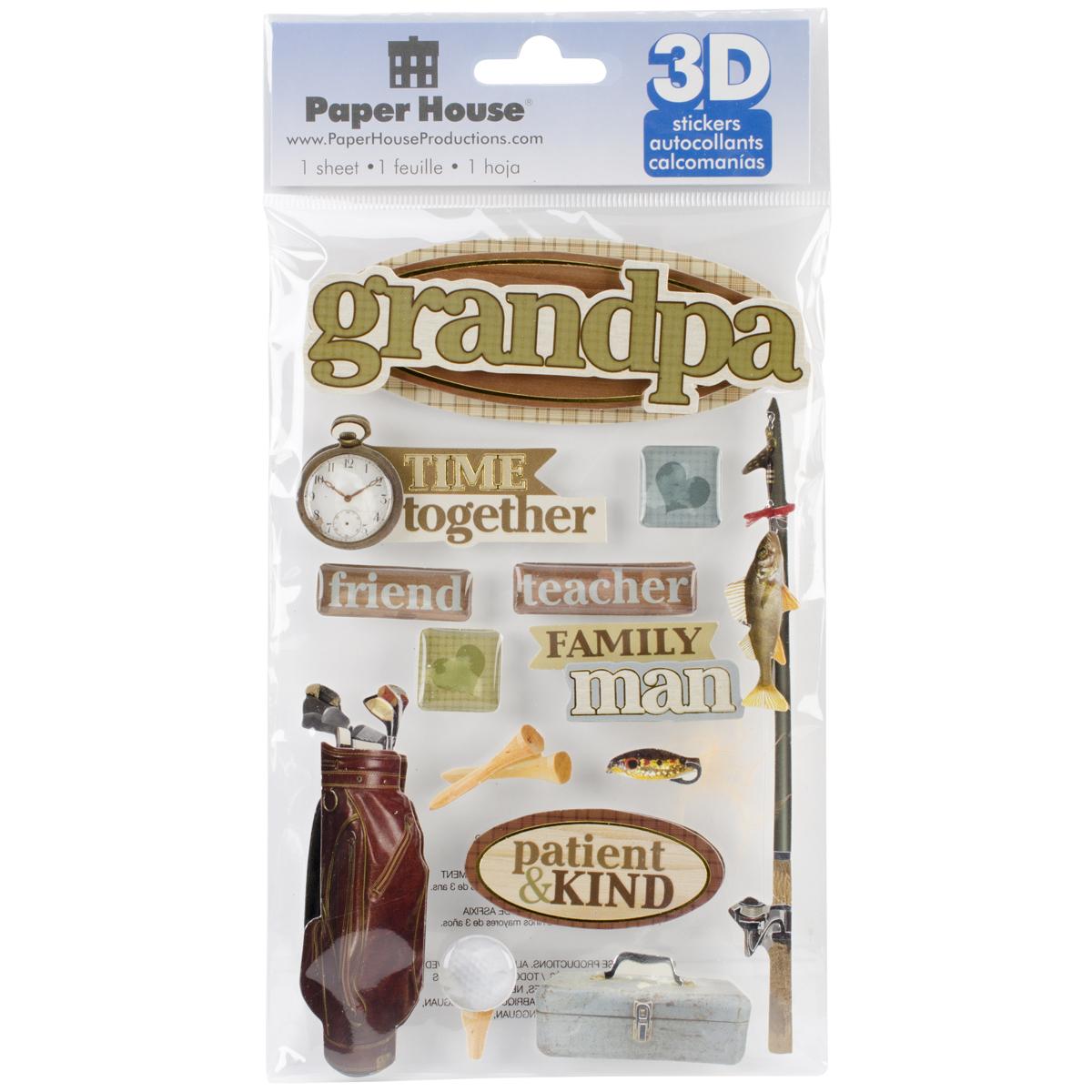 Family Grandpa -3D Stickers