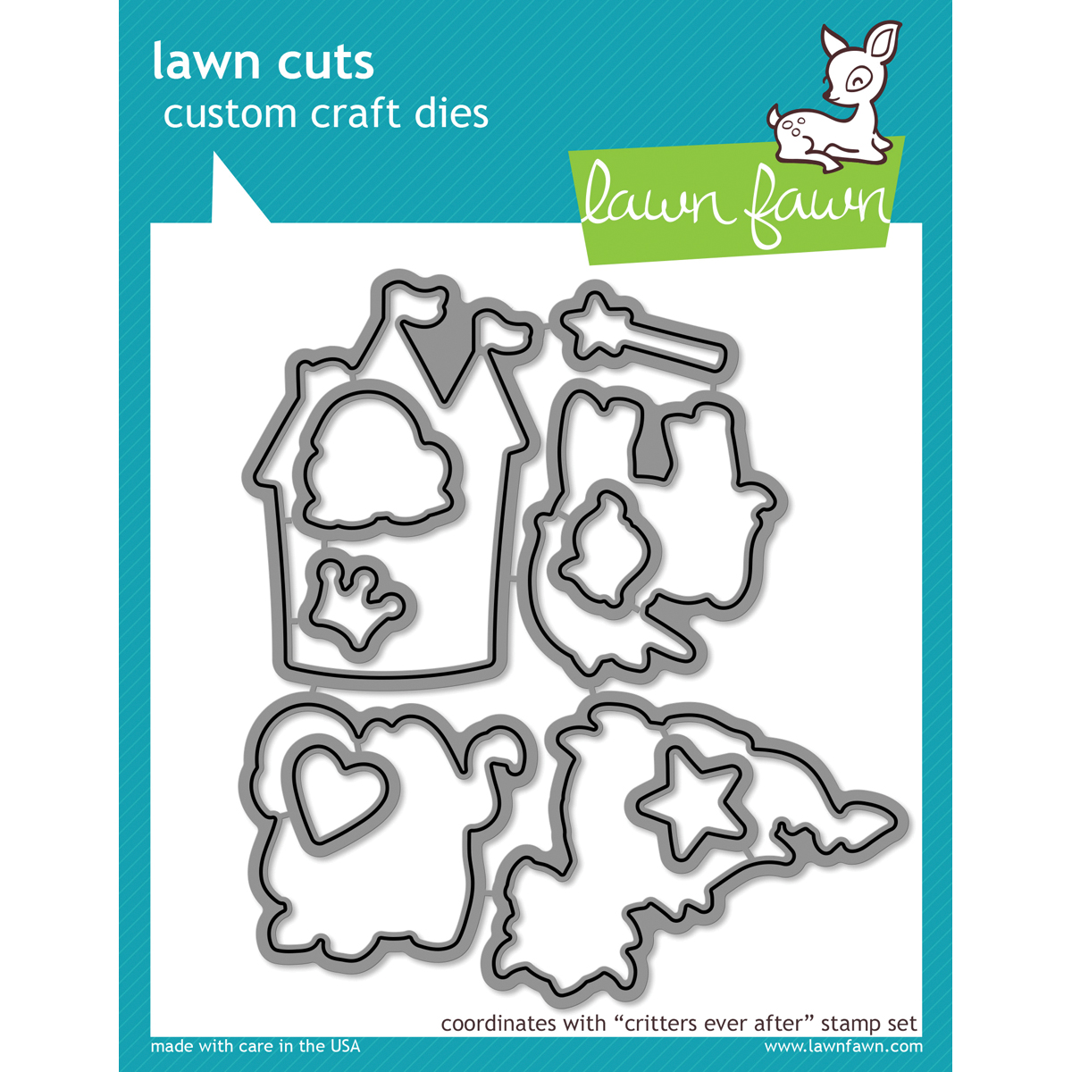 Lawn Cuts Custom Craft Die -Critters Ever After