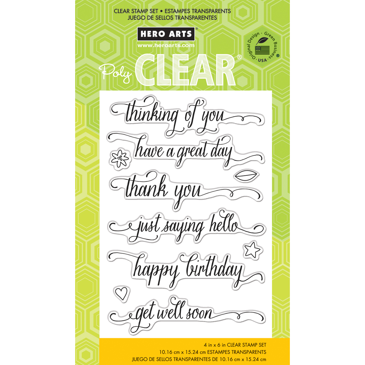 Hero Arts Clear Stamps 4X6 Family Tree Words