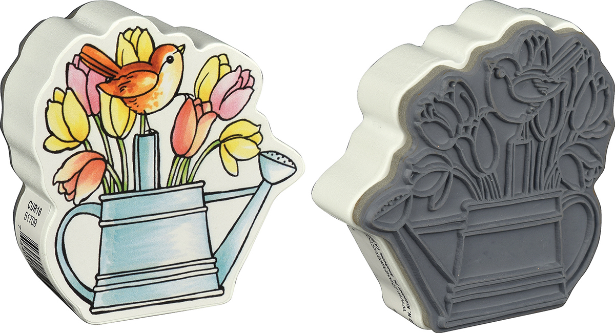 Stampendous Mounted Stamp 3X3-Watering Can