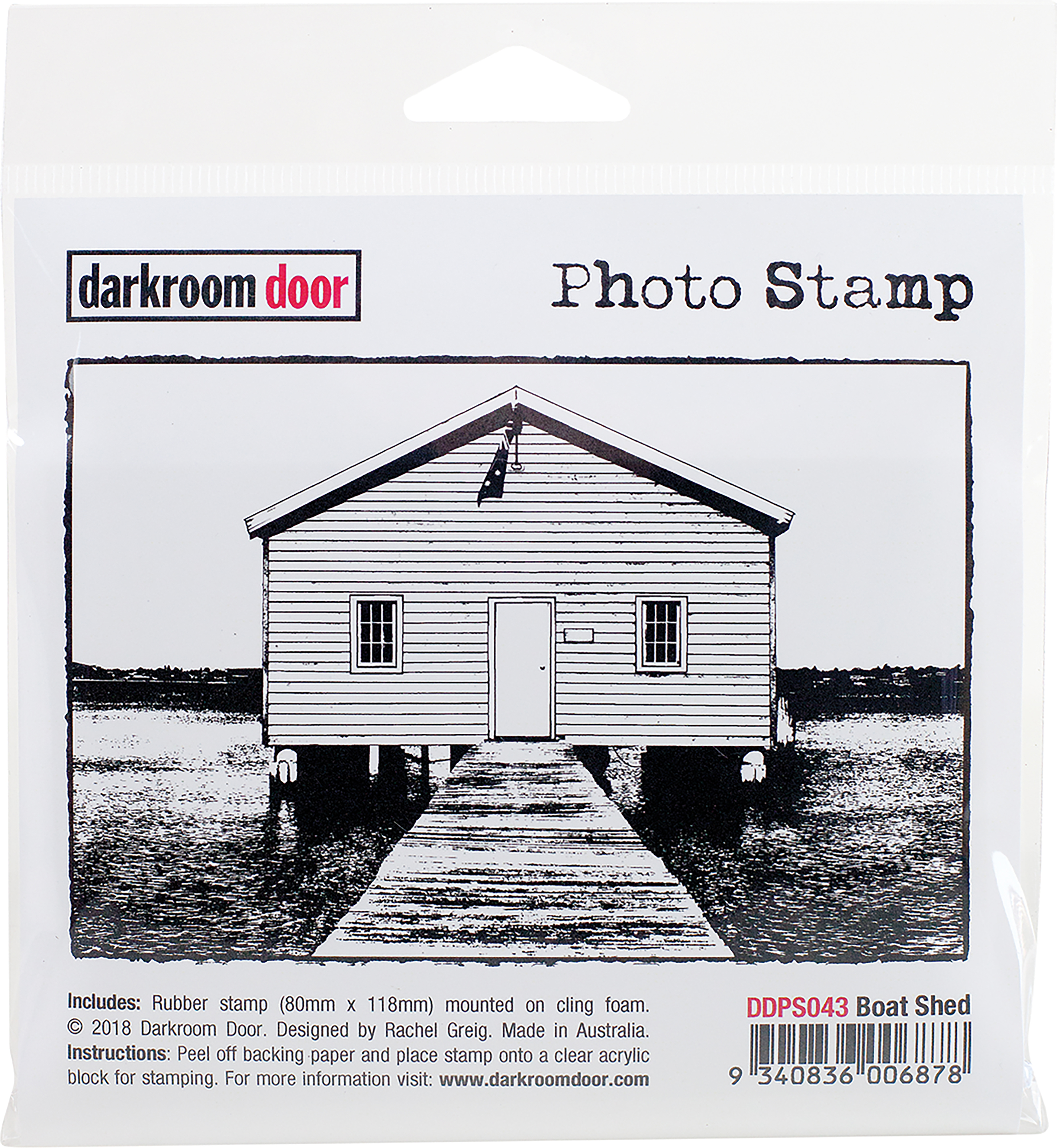 Darkroom Door Cling Stamp 4.6X3.2-Boat Shed