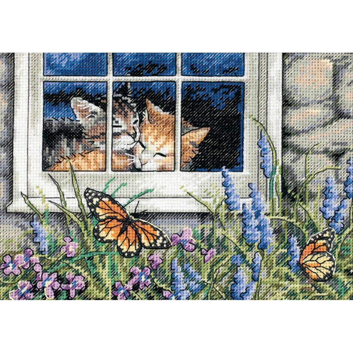 Dimensions Gold Petite Counted Cross Stitch Kit 7X5 -Feline Love (18 Count)