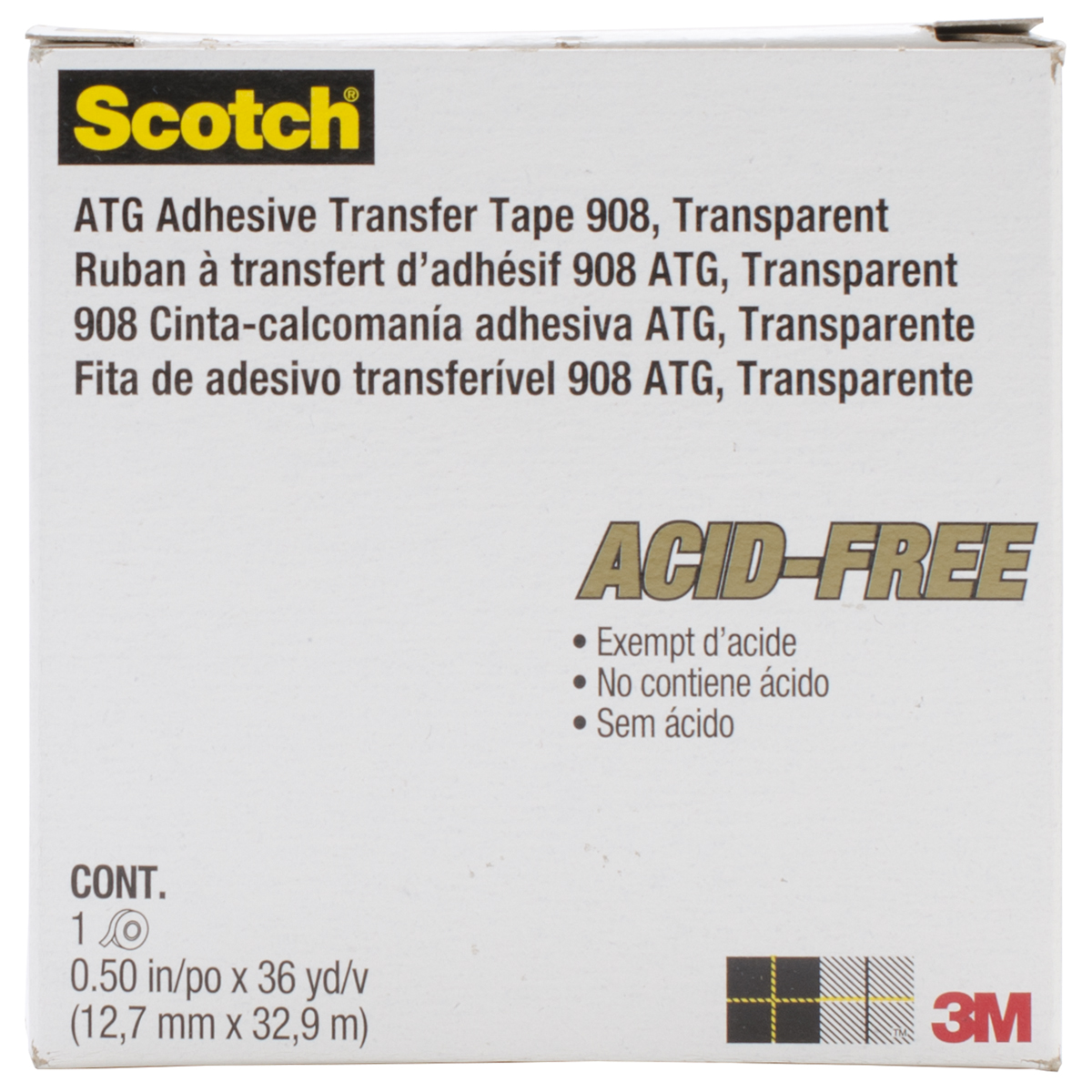 Scotch ATG Gold Transfer Tape-.5X36yd