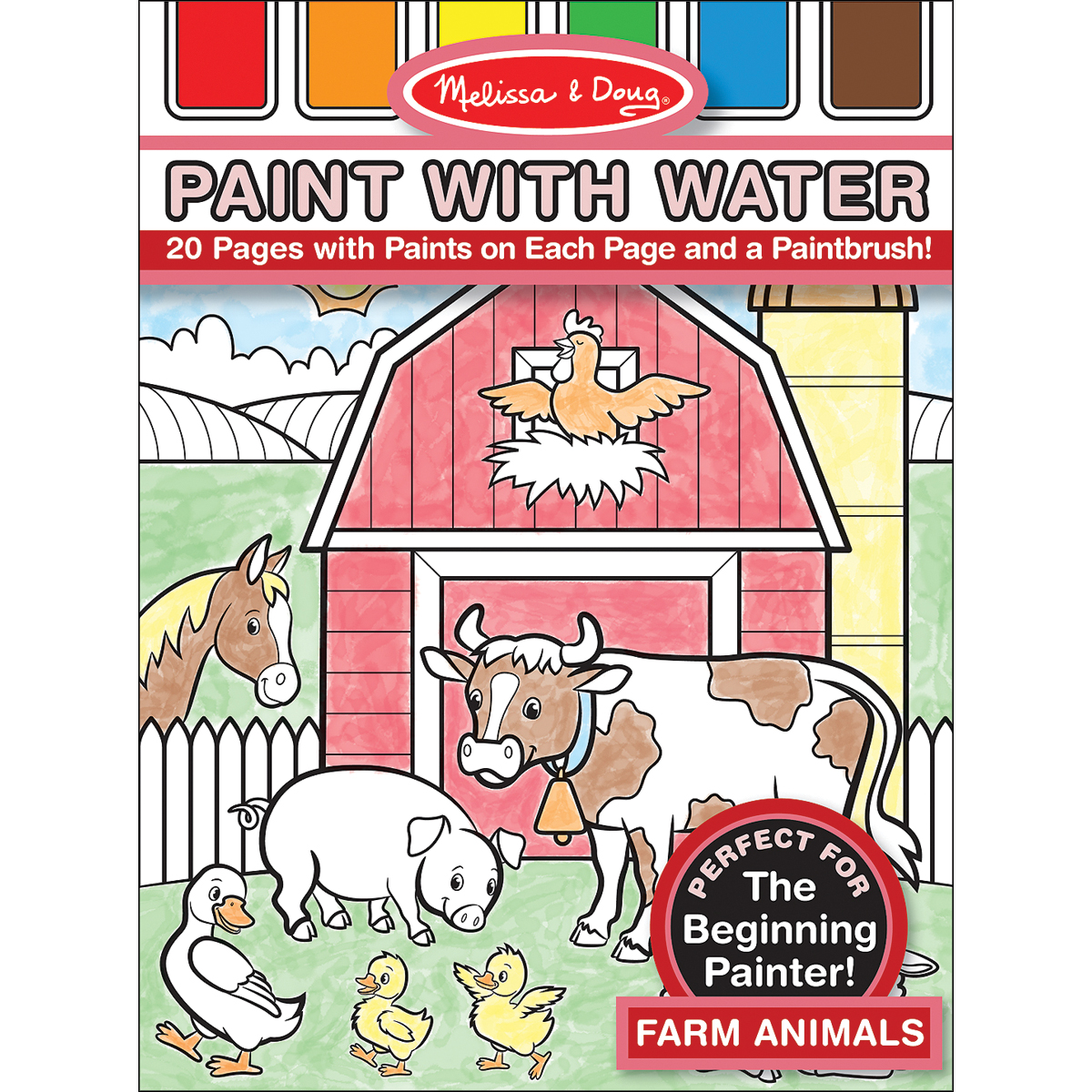 Paint W/Water Pad 8.25X11 20pgs-Farm Animals