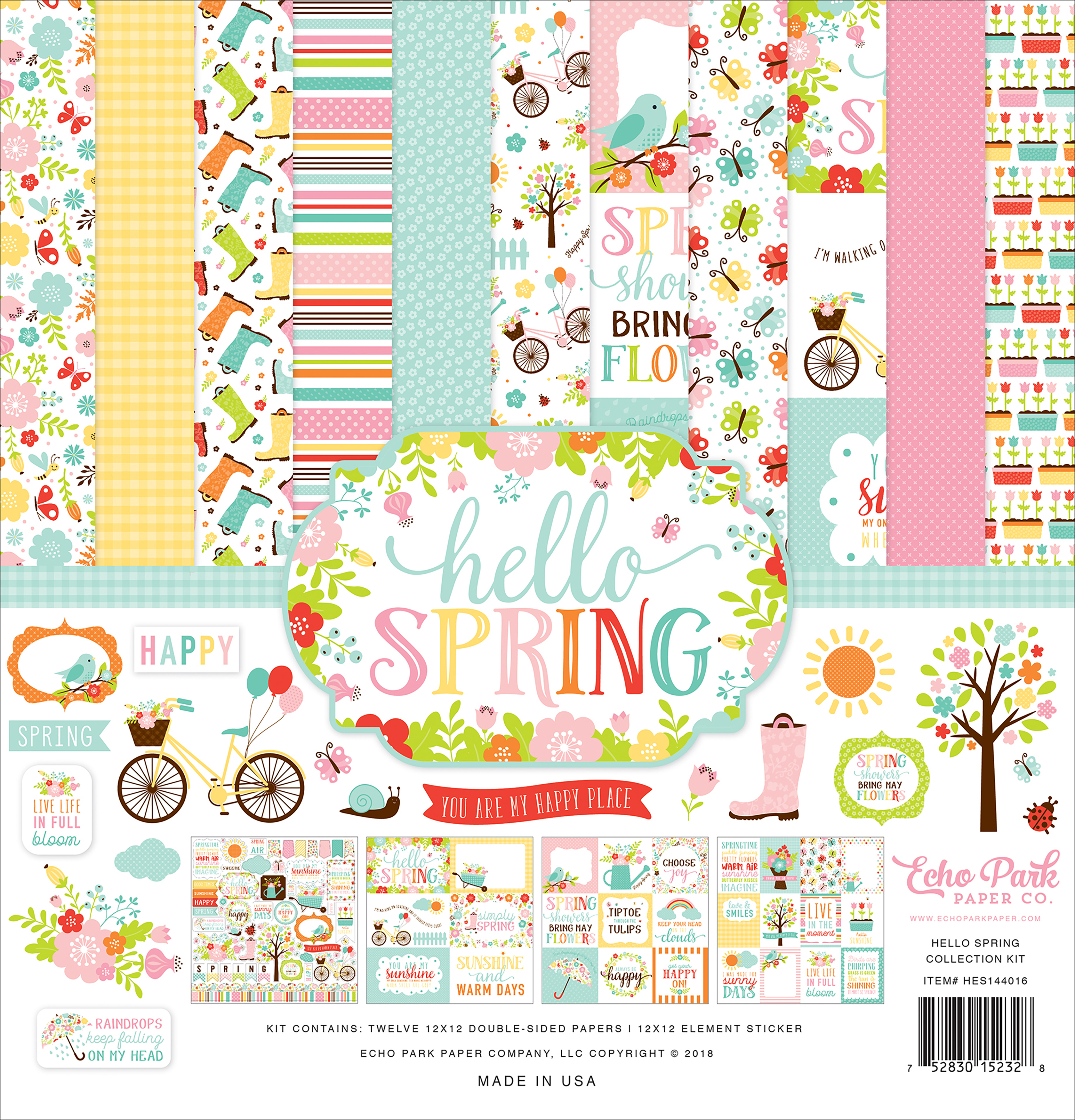 Echo Park Collection Kit 12X12-Hello Spring
