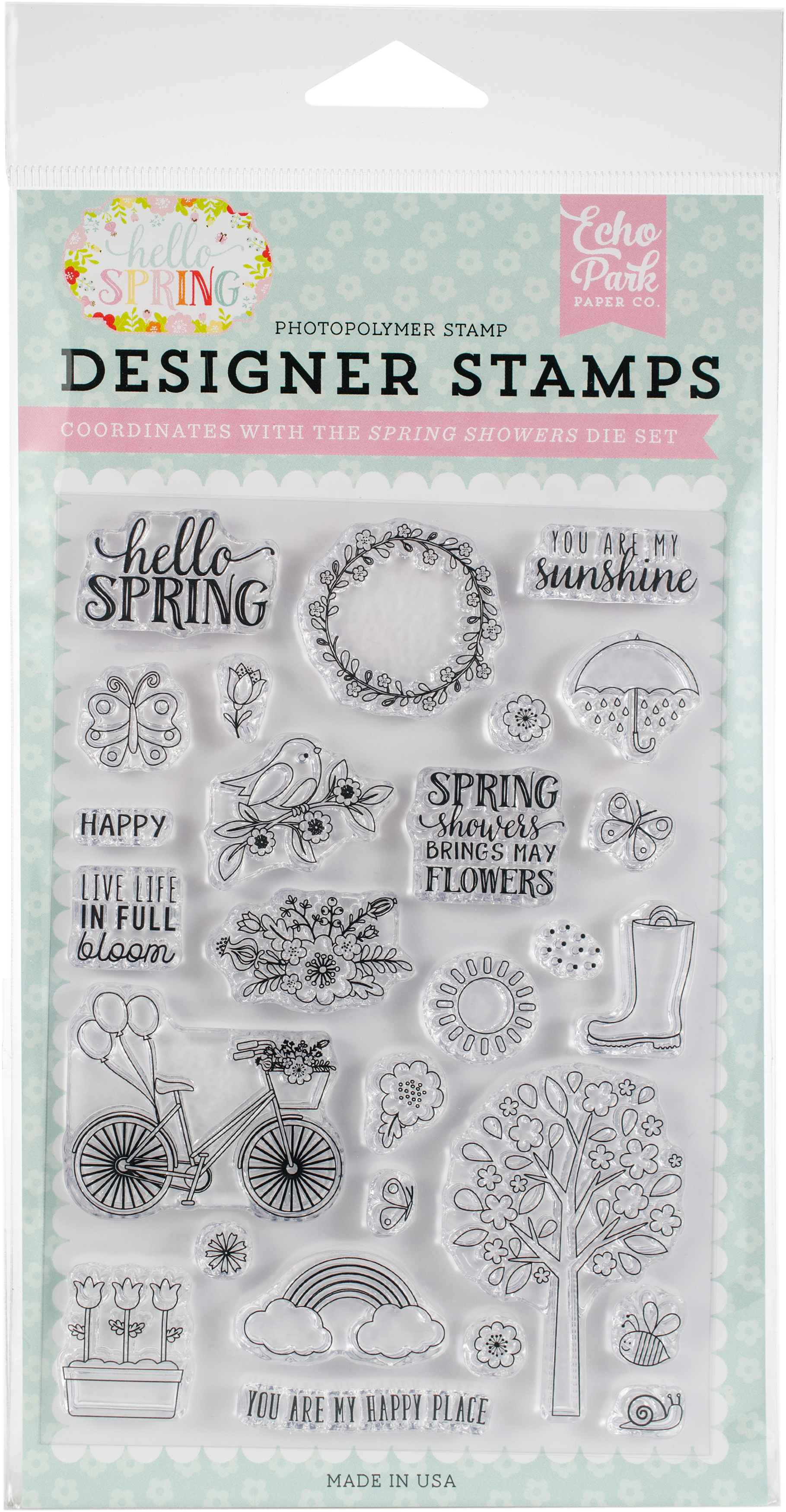 Echo Park Stamps  -Spring Showers
