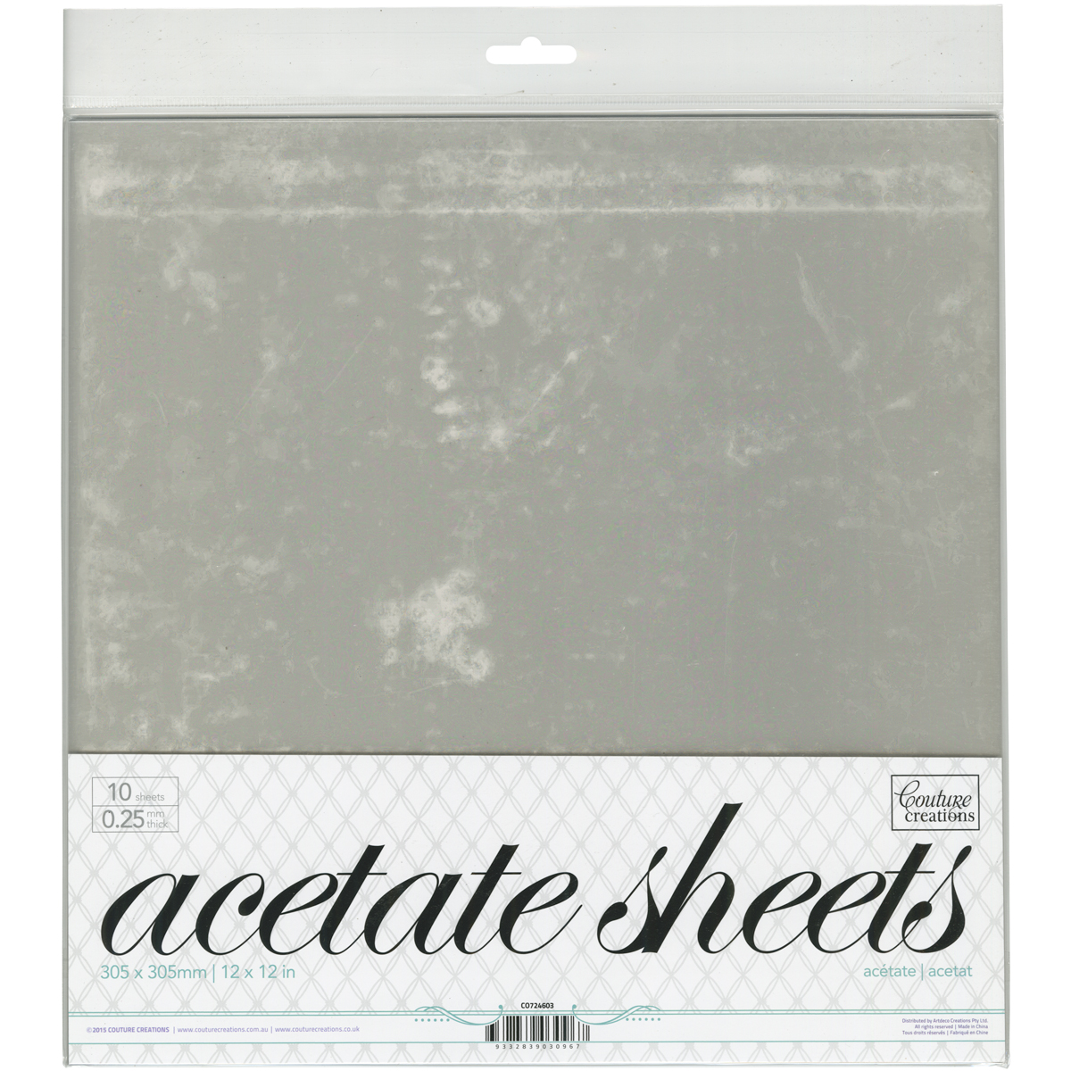 Acetate Sheets Pack12X12
