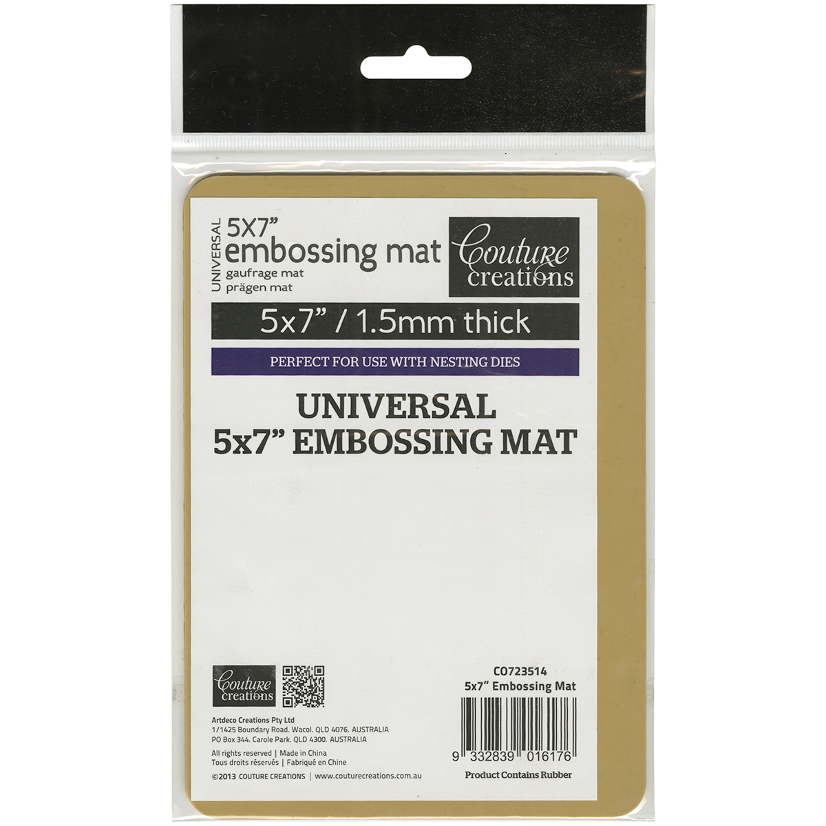 Couture Creations Universal Latex Embossing Mat-5X7