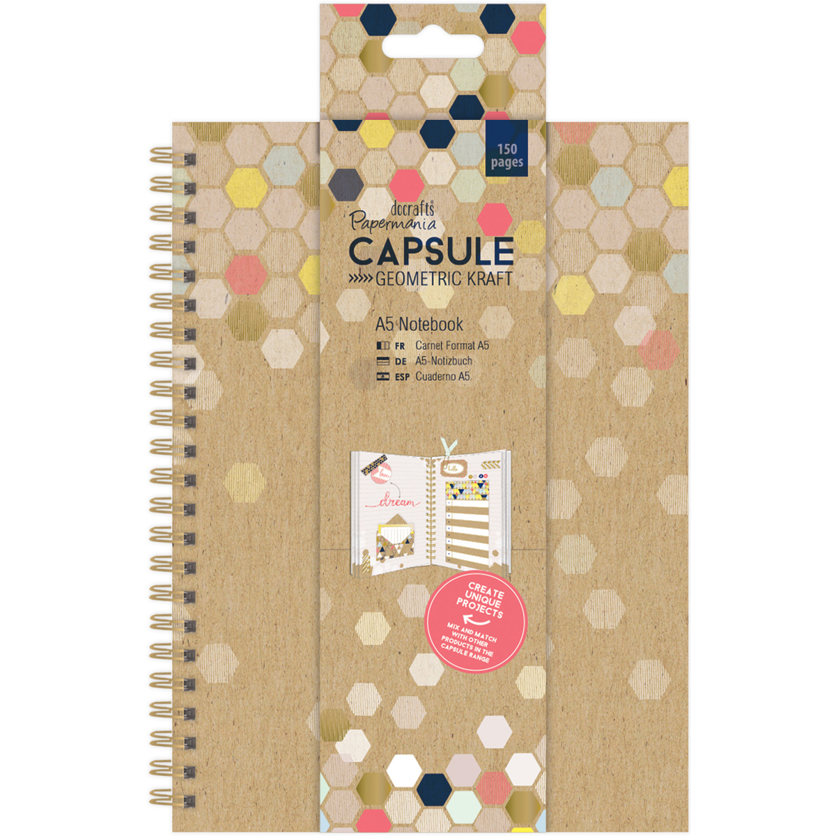 Capsule Geo. Kraft A5 Notebook