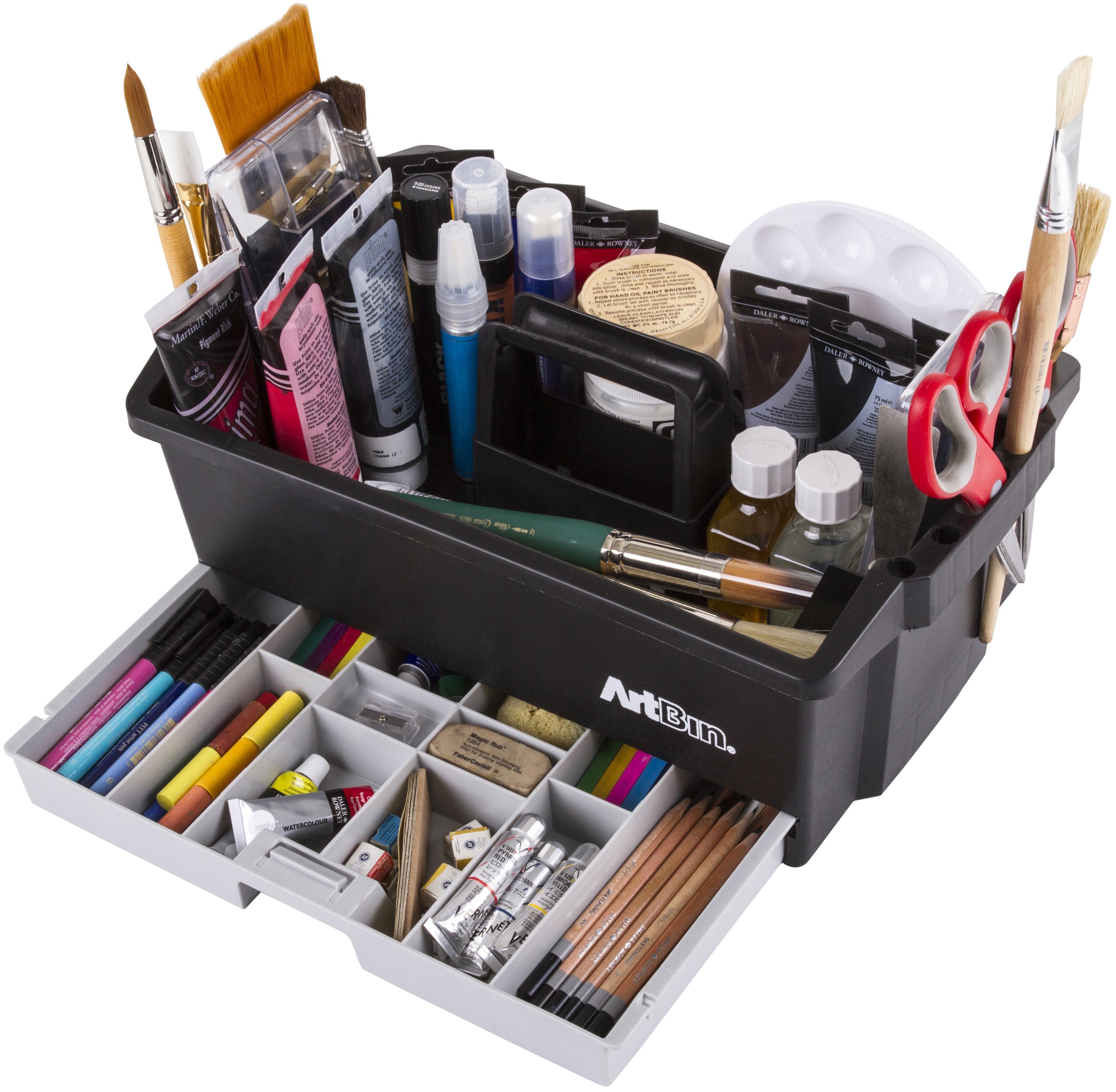 ArtBin Craft Caddy-16.5X6X10 Black