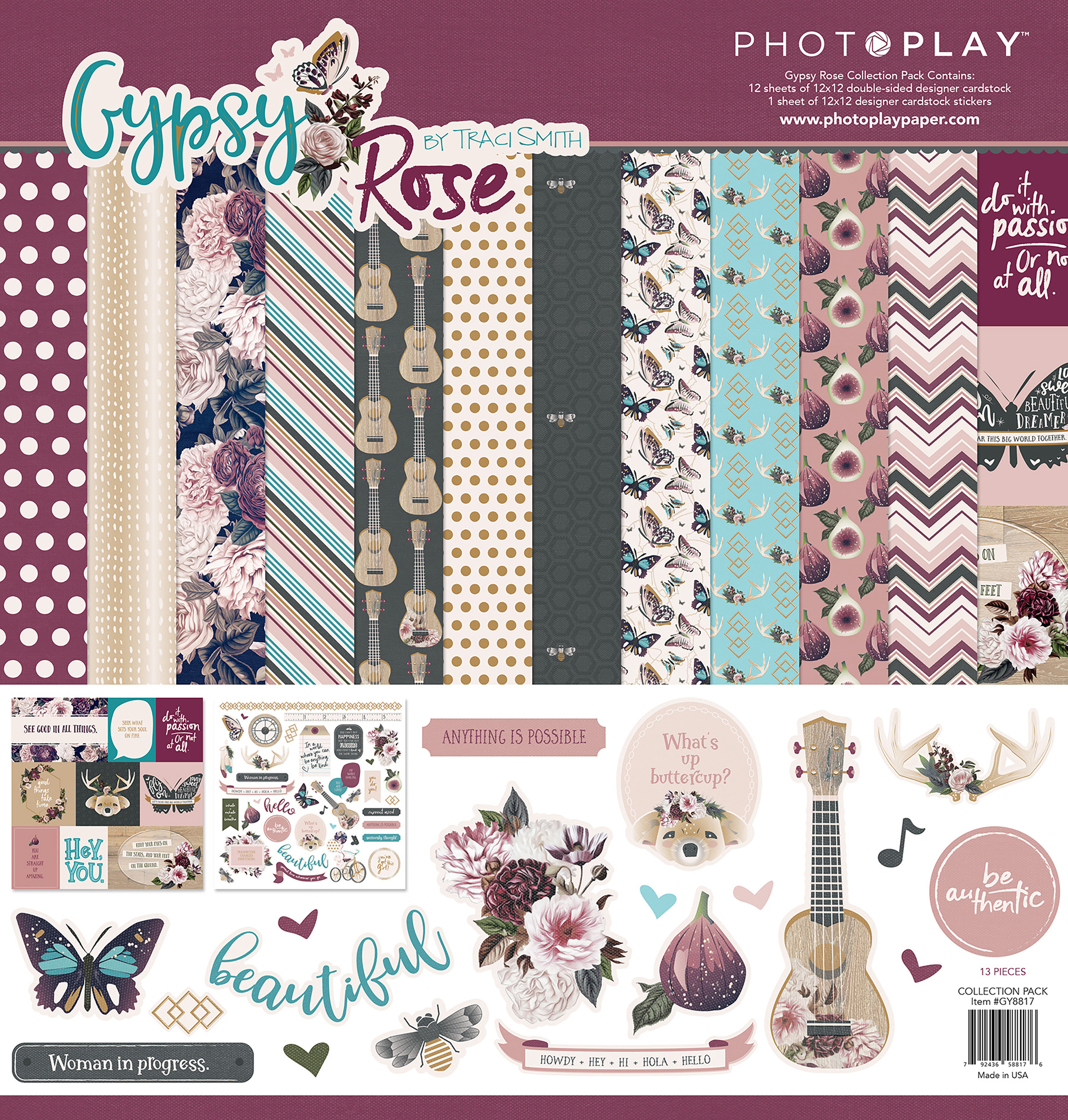 PhotoPlay Collection Pack 12X12-Gypsy Rose