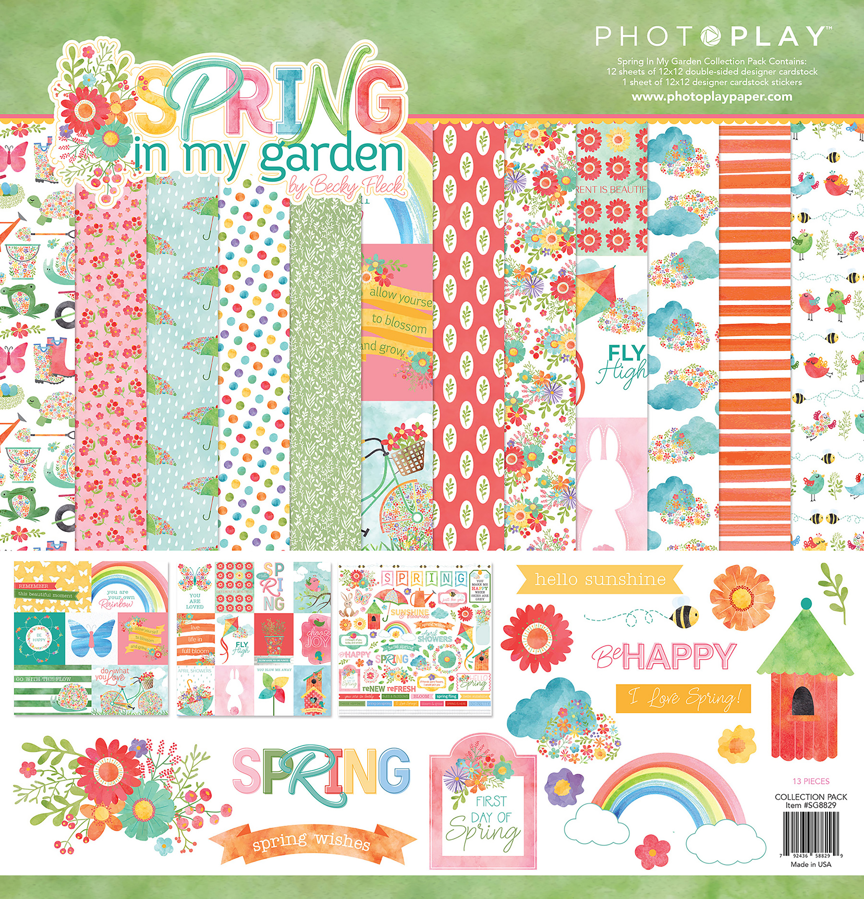 PhotoPlay Collection Pack 12X12-Spring In My Garden