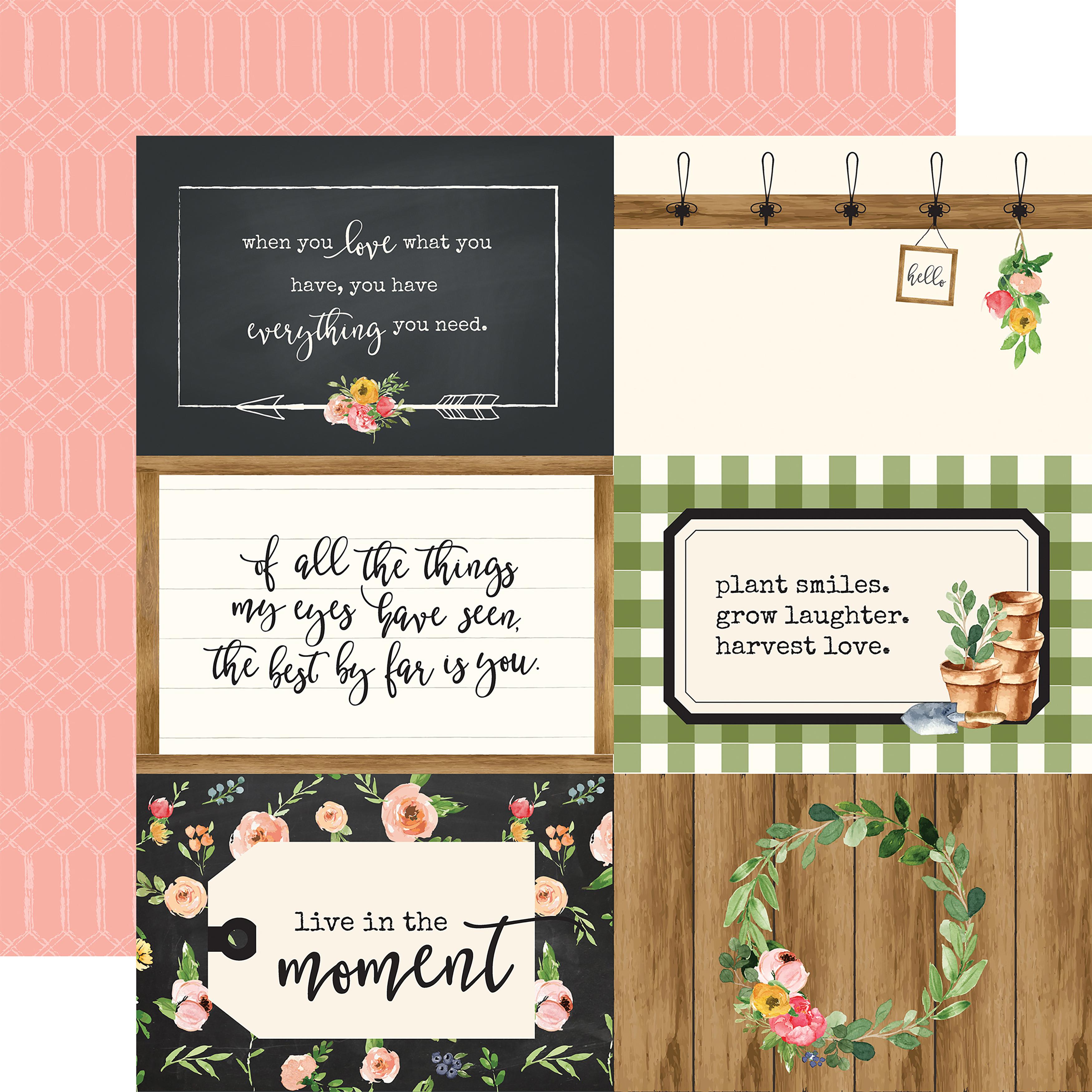 Spring Market 4X6 Journaling Cards