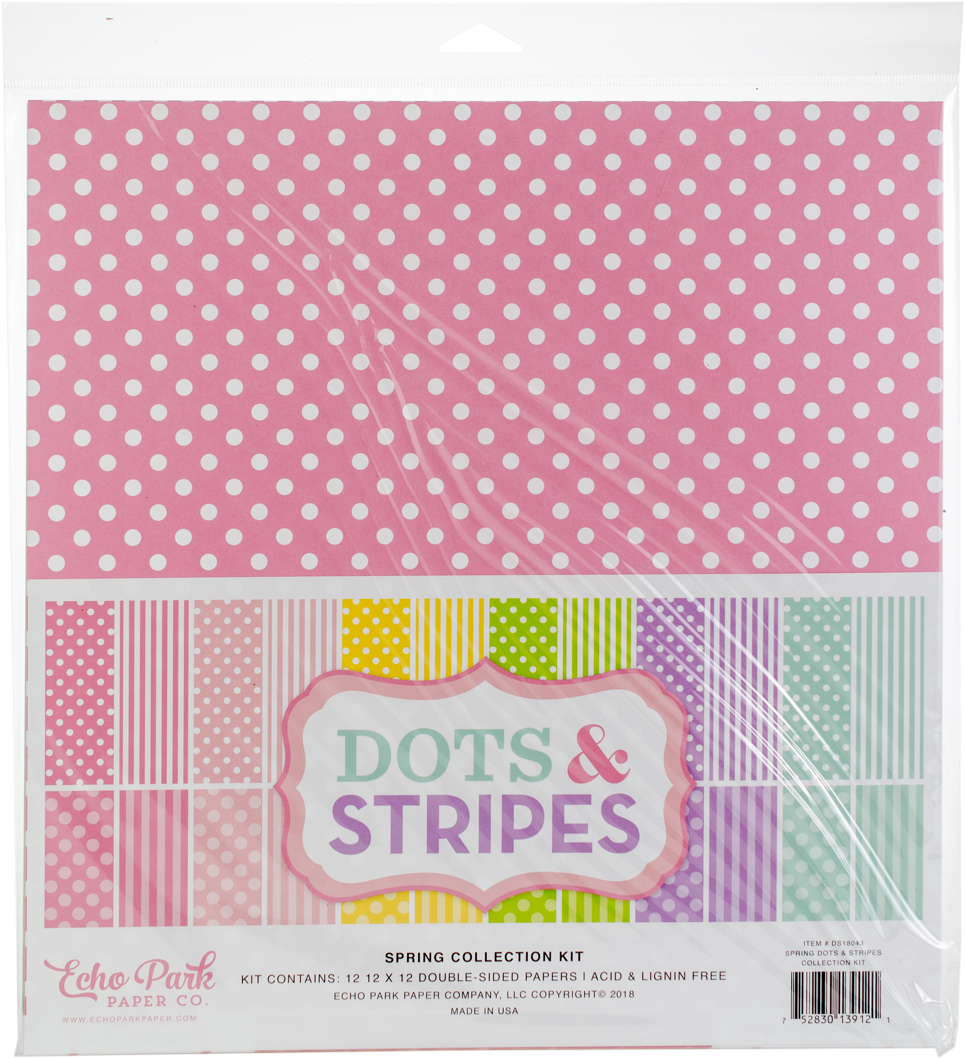Echo Park Spring Collection Kit-Dots & Stripes