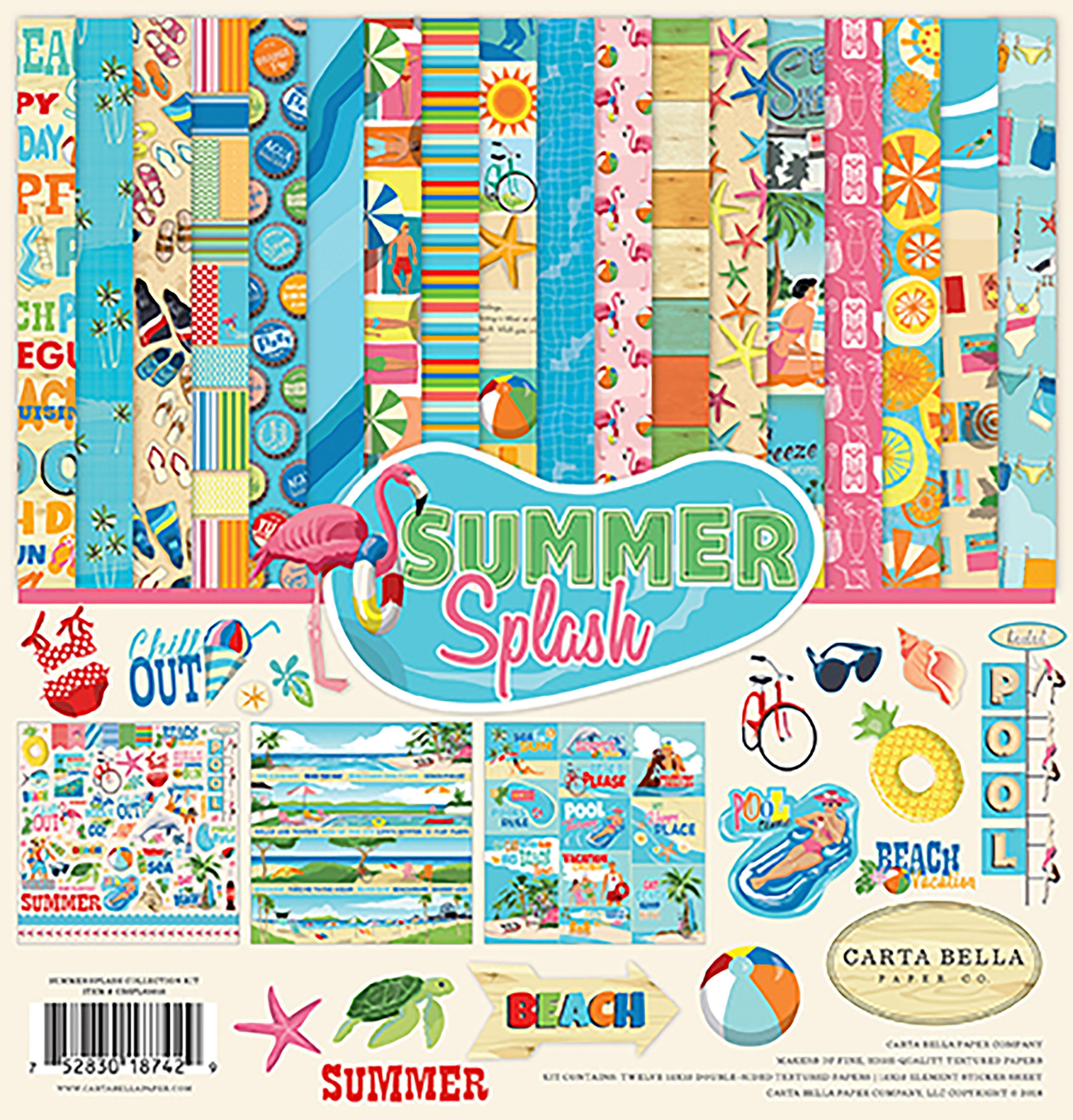 Carta Bella Collection Kit 12X12-Summer Splash