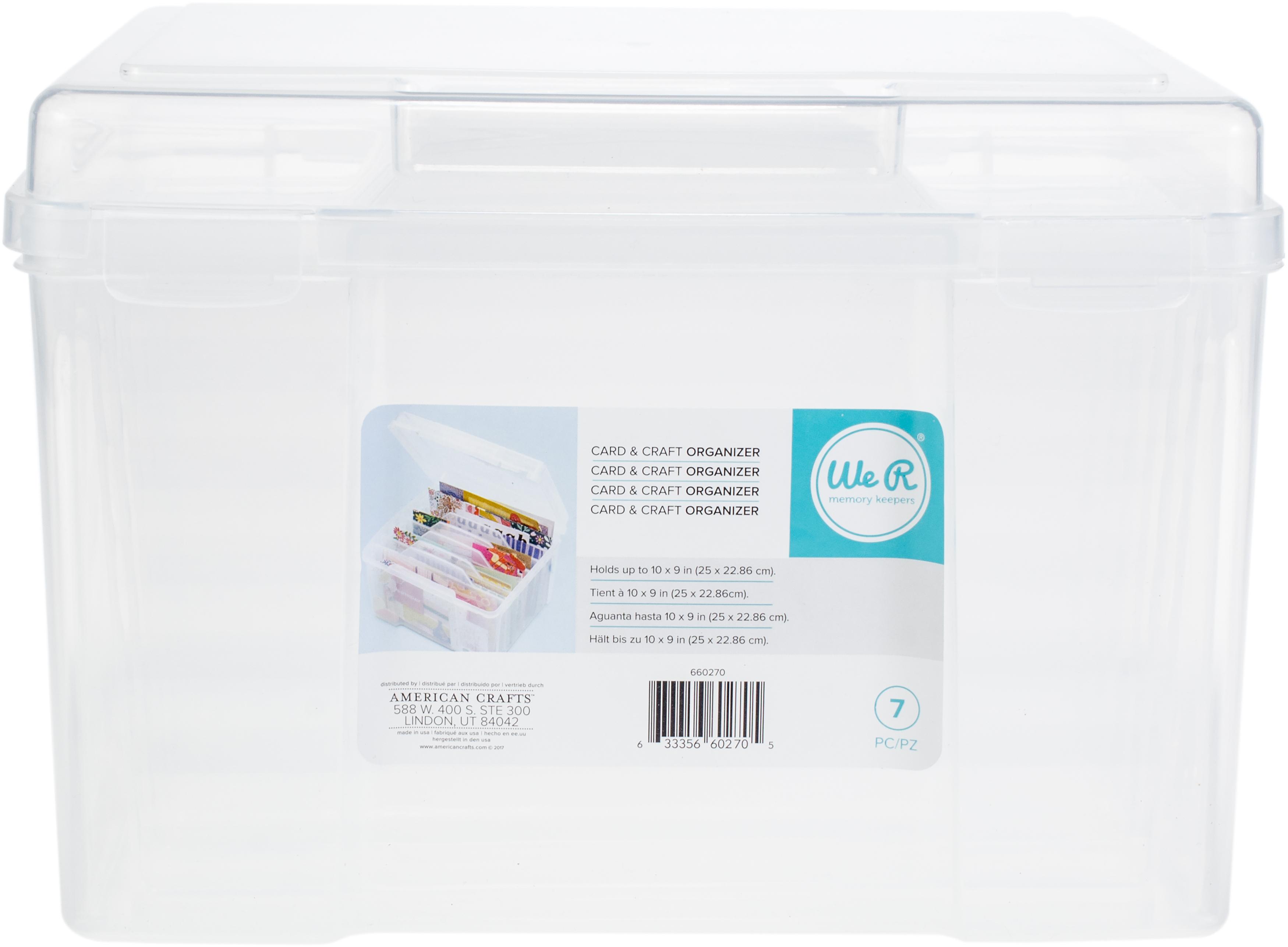 We R Craft & Photo Translucent Plastic Storage-11X9X8 File Organizer