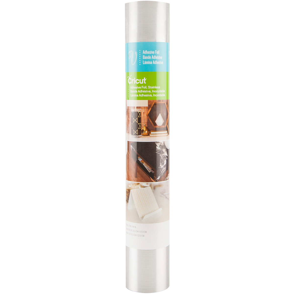 Cricut Adhesive Foil 12X48 Roll-Stainless Silver