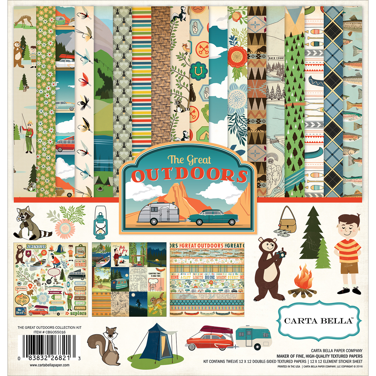 Carta Bella Collection Kit 12x12 - Great Outdoors