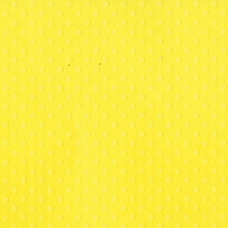 Bazzill Dotted Swiss Cardstock 12X12-Lemon Zest/Dotted Swiss