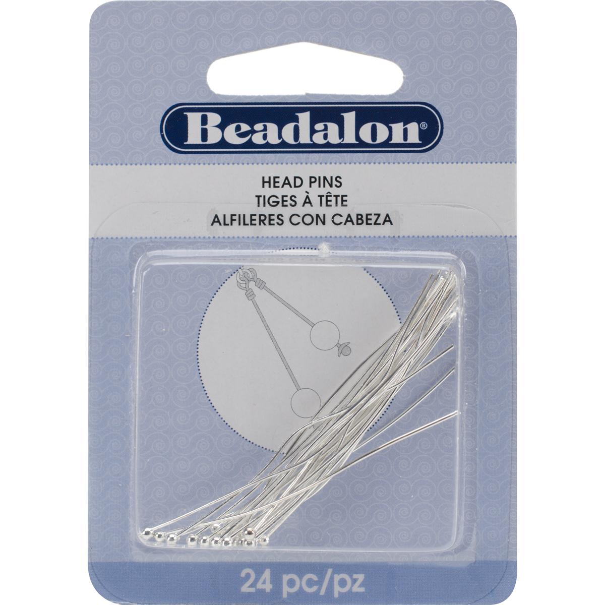 Head Pins Ball 2 24/Pkg-Silver-Plated