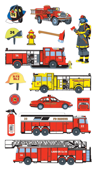 Sticko Stickers-Fire Department