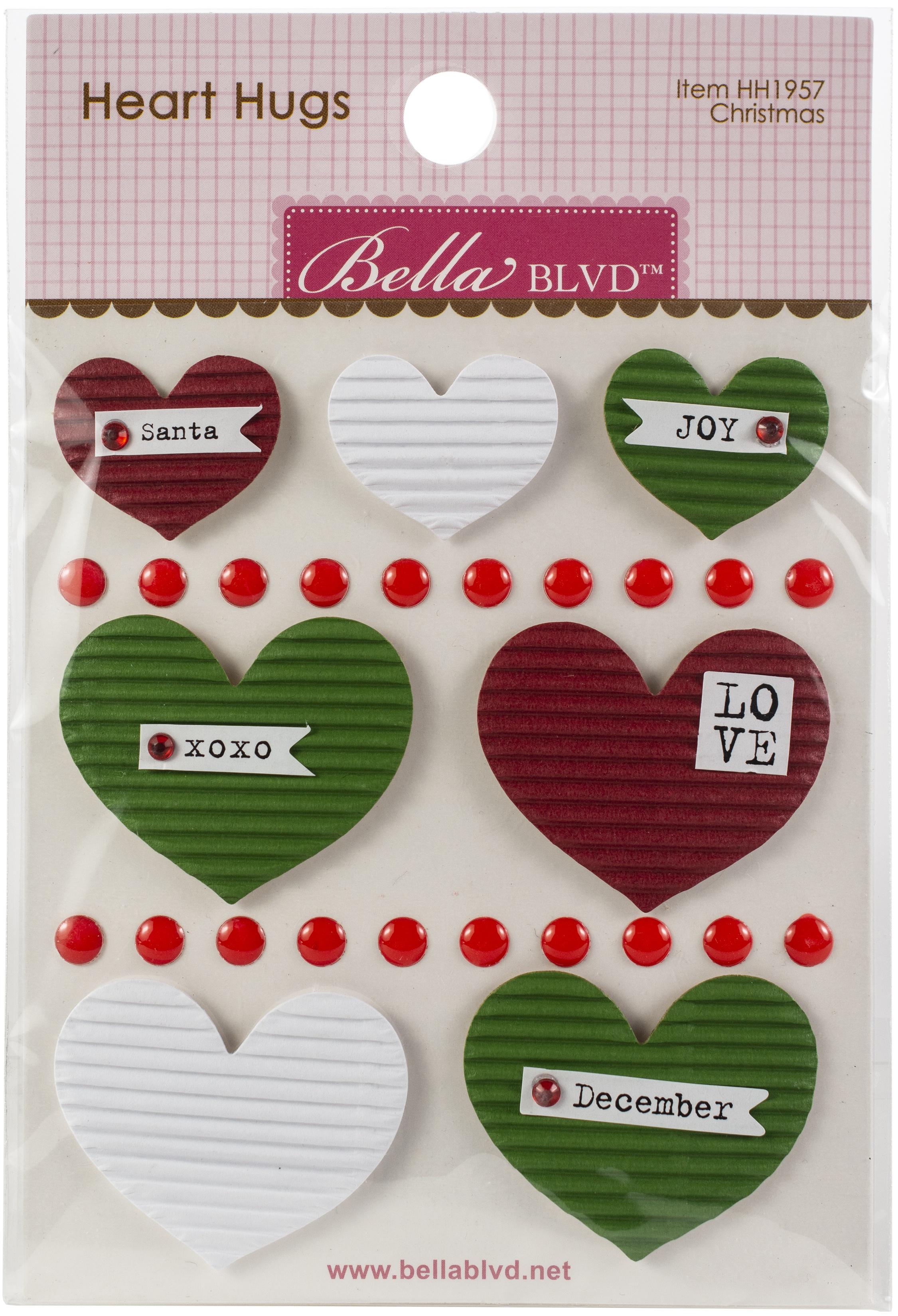 BB Legacy Heart Hugs Embellishments 7/Pkg Christmas