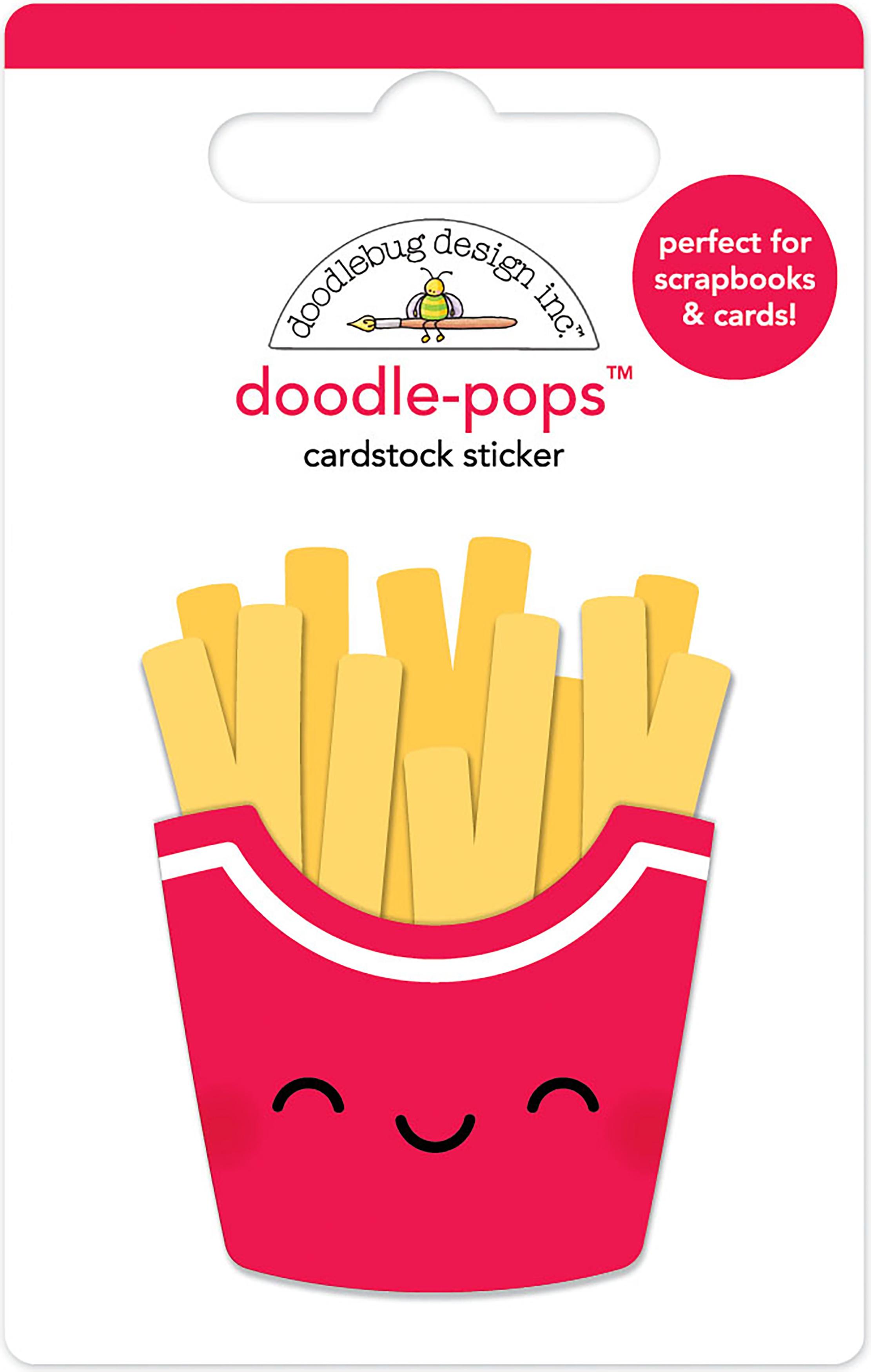 Doodlebug Doodle-Pops 3D Stickers-Fry Day