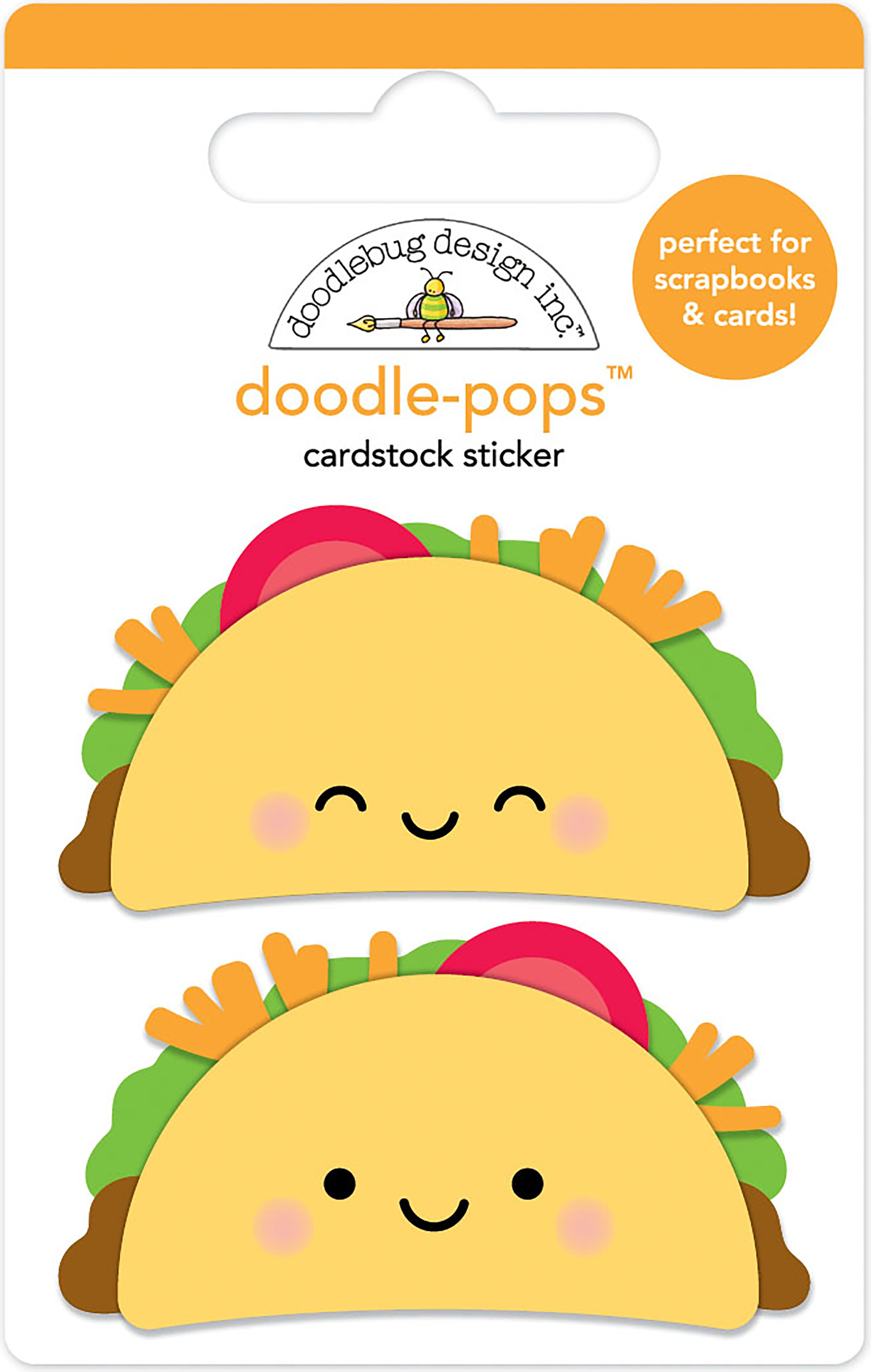 Doodlebug Doodle-Pops 3D Stickers-Taco-Bout Fun