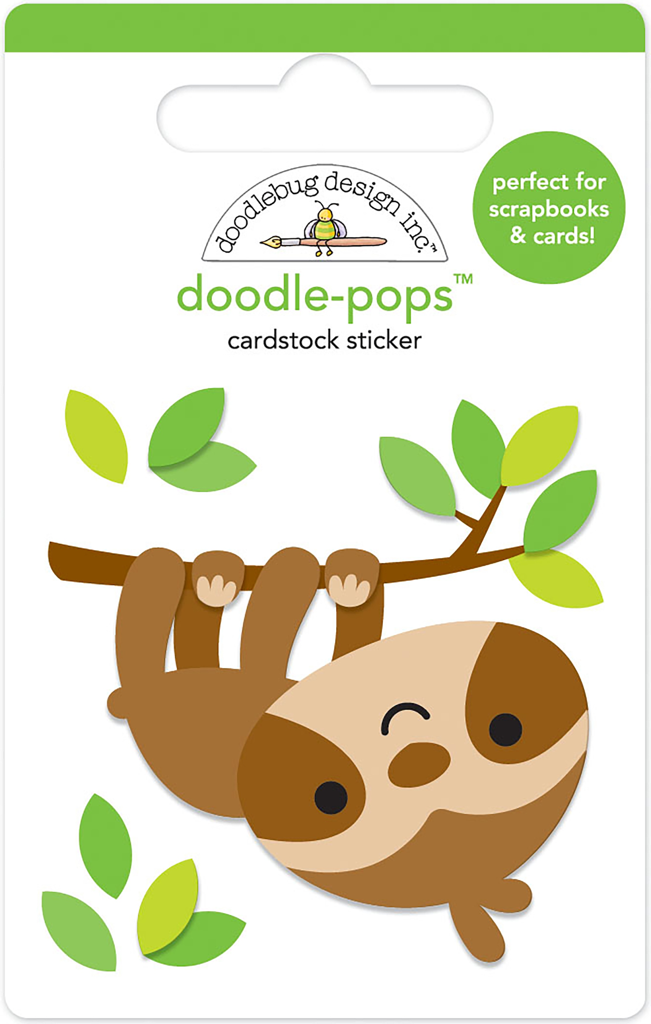 Doodlebug Doodle-Pops 3D Stickers-Hang In There