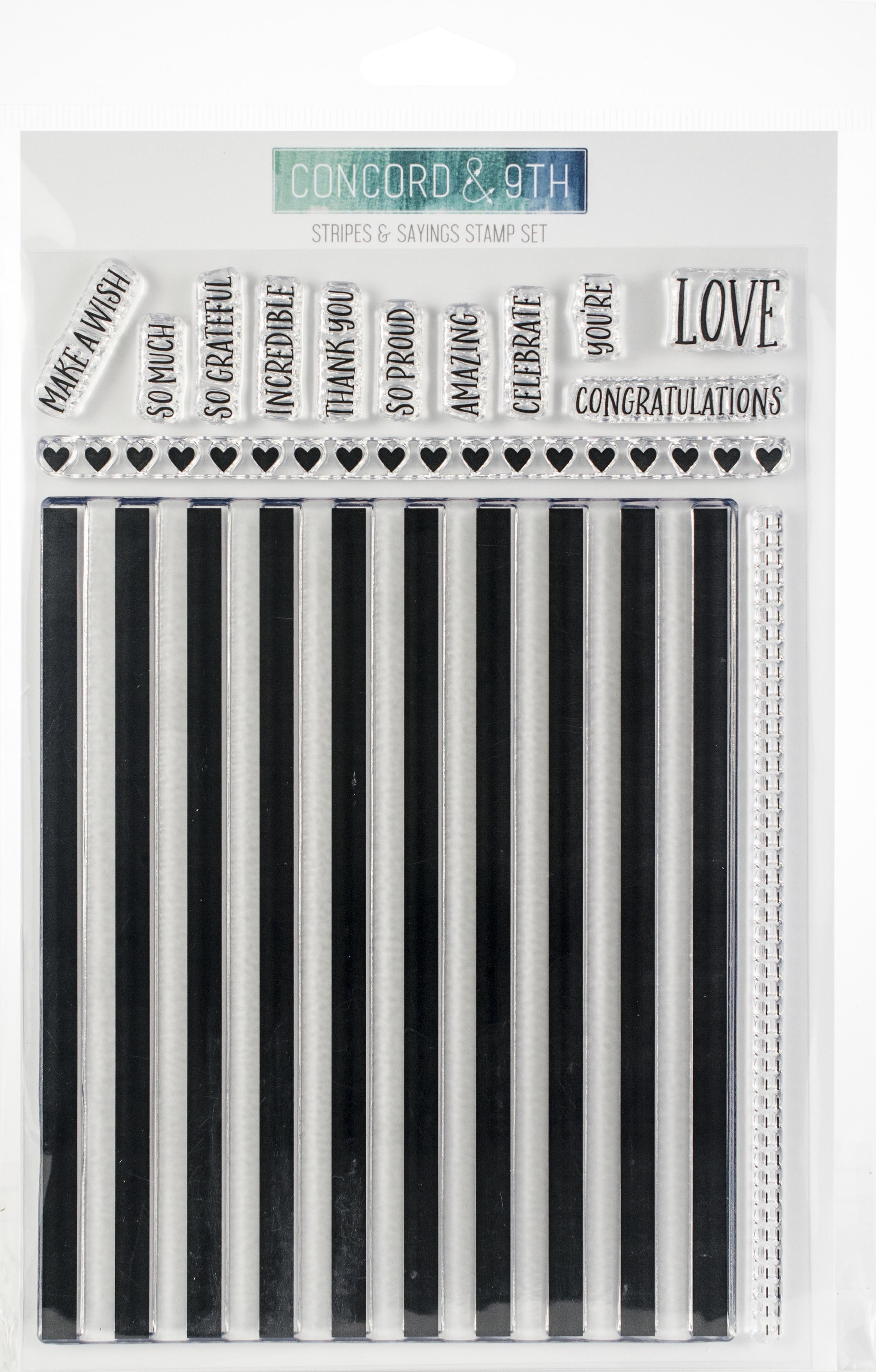 Stripes & Saying Stamp