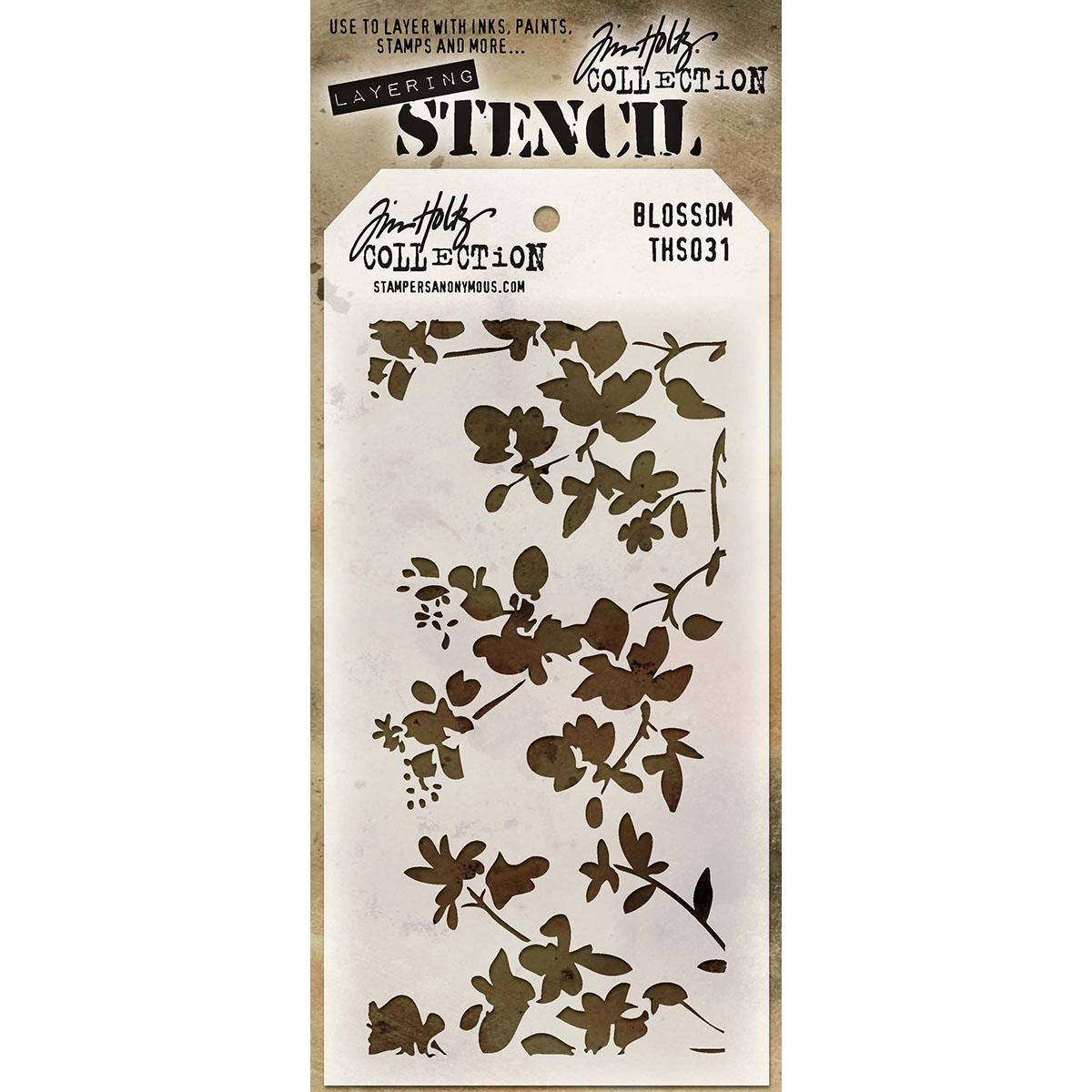 Tim Holtz Layered Stencil 4.125X8.5-Blossom