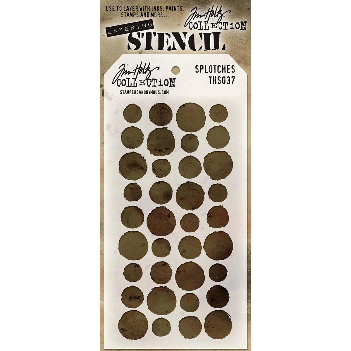 Tim Holtz Layered Stencil 4.125X8.5-Splotches